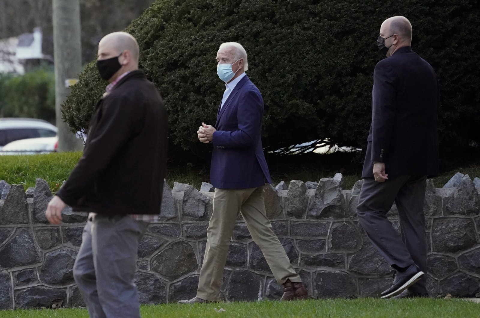 President-elect Joe Biden leaves St. Ann Parish in Wilmington, Delaware, Nov. 21, 2020. (AP Photo)