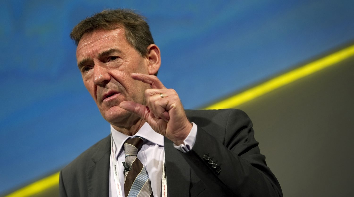 Jim O'Neill, then chairperson of Goldman Sachs Asset Management speaks at the Confederation of British Industry (CBI) annual conference in London, on Nov. 21, 2011. (AFP Photo)
