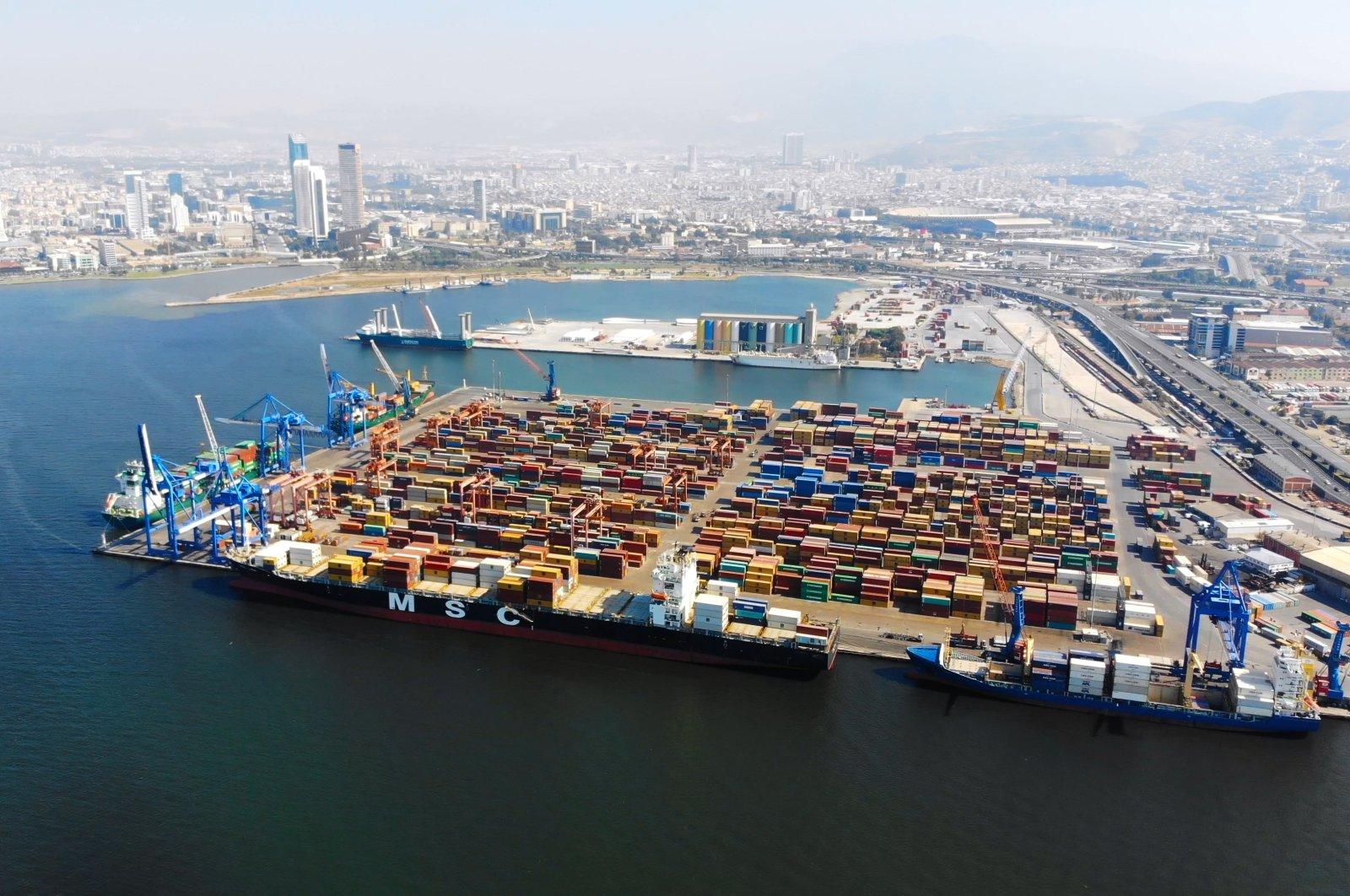 An aerial view of the Port of Izmir in western Turkey, July 10, 2018. (Shutterstock Photo)
