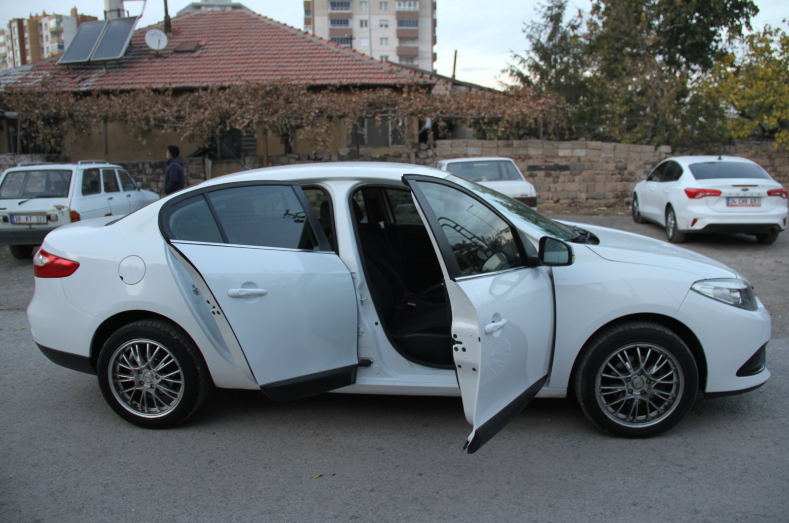 A view of the car in Kayseri, central Turkey, Nov. 23, 2020. (AA Photo)