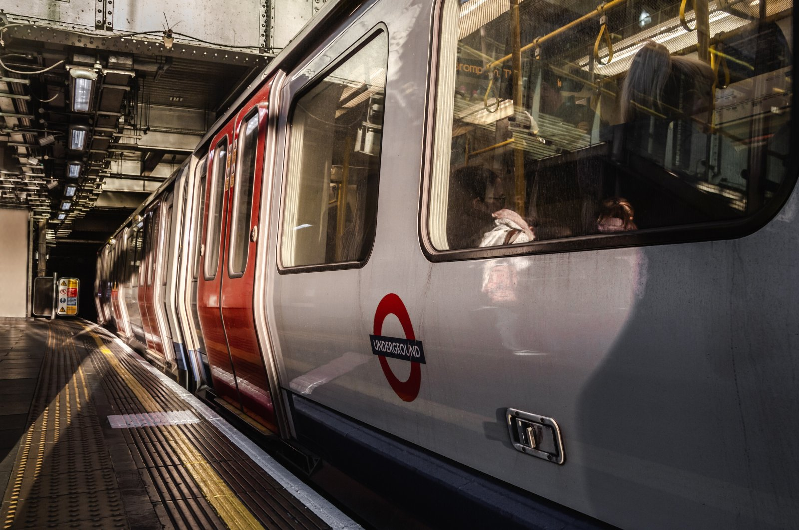 An underground sub-surface train at a Tube station in  London, Jan. 16, 2019. (Shutterstock Photo)