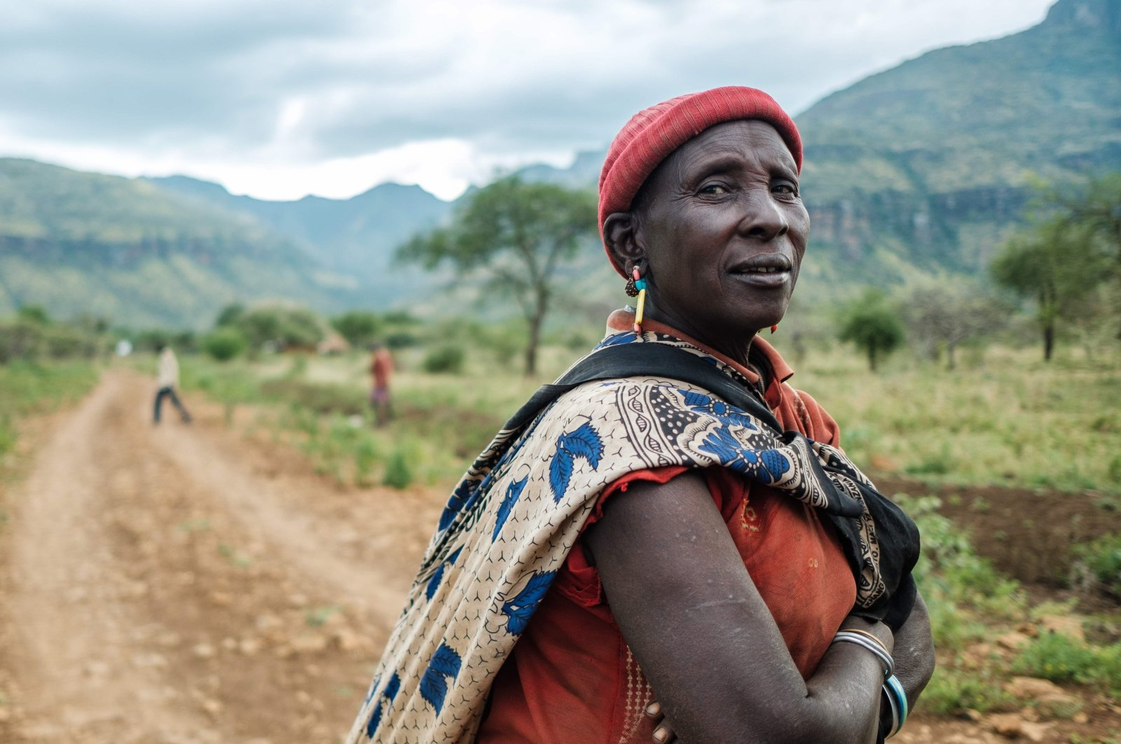 Mary Cheposepoy, a cattle herder, poses for a portrait in Komoret, northern Uganda, Feb. 15, 2020. (AFP Photo)