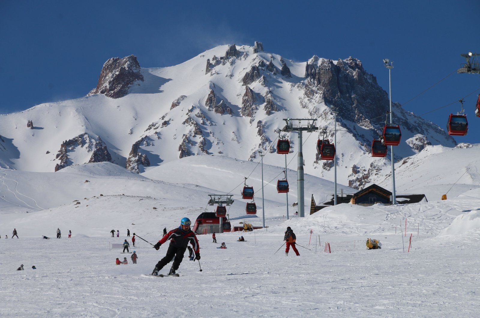 A view from the ski center at Erciyes Mountain, Kayseri, central Turkey, Feb. 12, 2018. (Sabah File Photo)