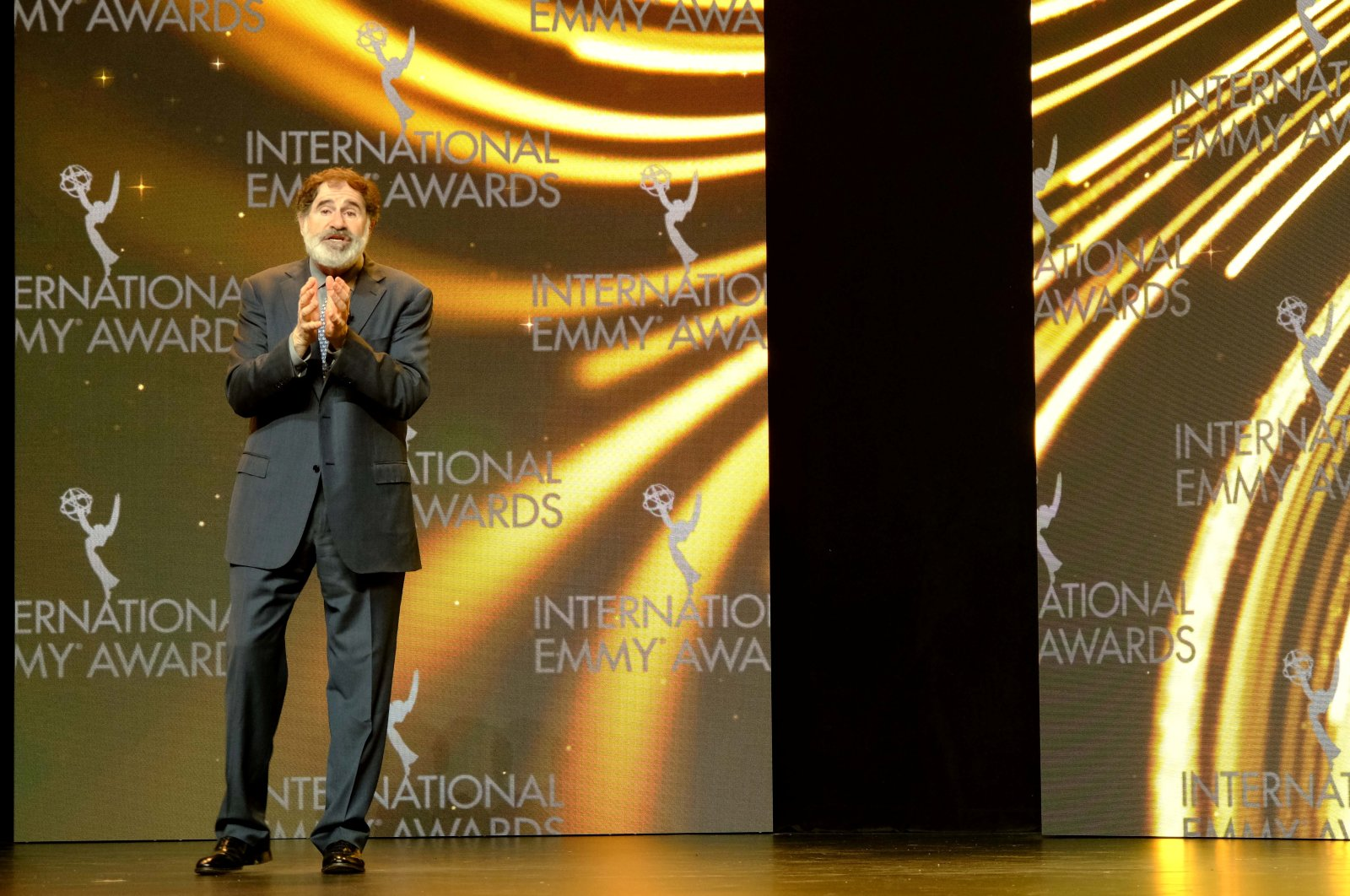 Actor Richard Kind hosts the 48th International Emmy Awards Ceremony, in New York, U.S., Nov. 23, 2020. (REUTERS PHOTO)
