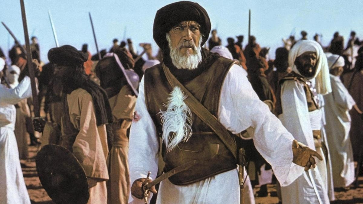 "Actor Anthony Quinn as Prophet Muhammad's uncle Hamza in a scene from ""The Message."""