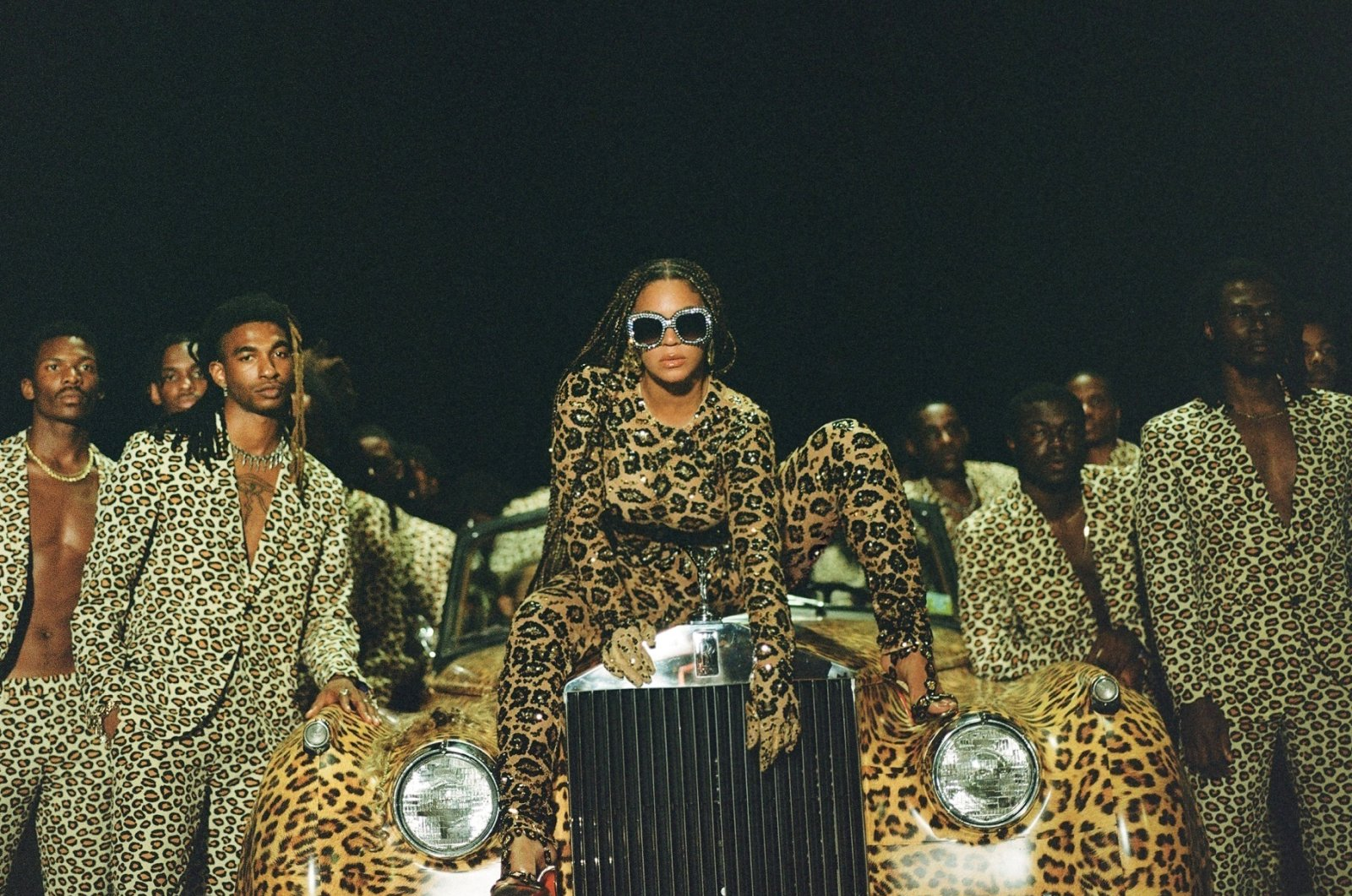 "This image released by Disney Plus shows Beyonce (C) in a scene from her visual album ""Black is King."" (AP PHOTO)"
