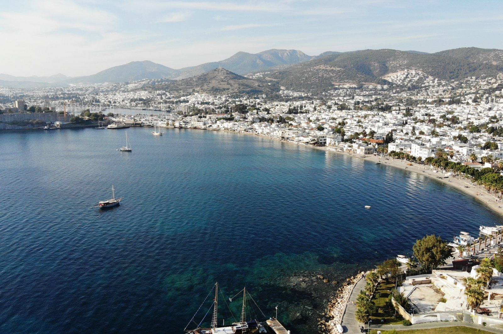 The resort city of Bodrum in the Aegean province of Muğla, Turkey, Nov. 22, 2020. (IHA Photo)