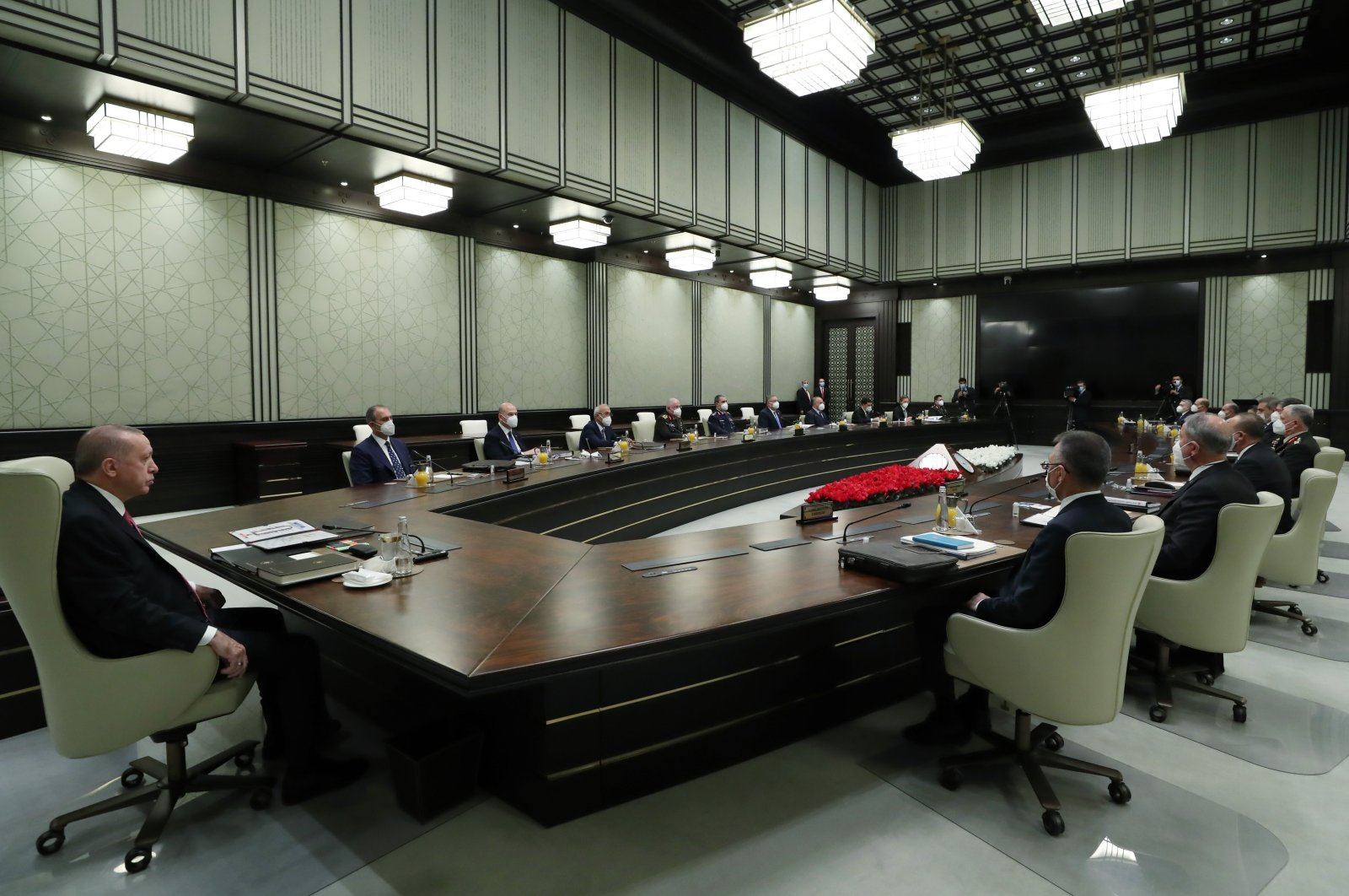 Turkey's National Security Council meets under the chair of President Recep Tayyip Erdoğan in the capital Ankara, Nov. 25, 2020. (AA Photo)