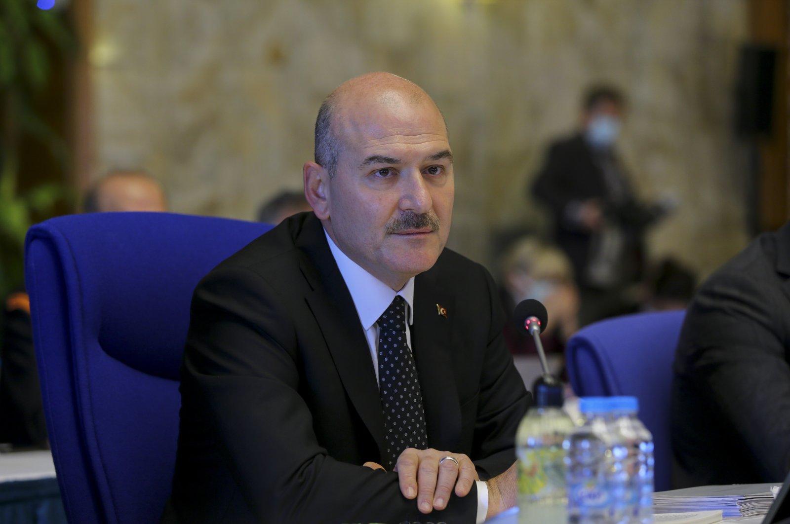 Interior Minister Süleyman Soylu attends a meeting for the 2021 budget at the Turkish Parliament, Ankara, Turkey, Nov. 26, 2020. (AA Photo)