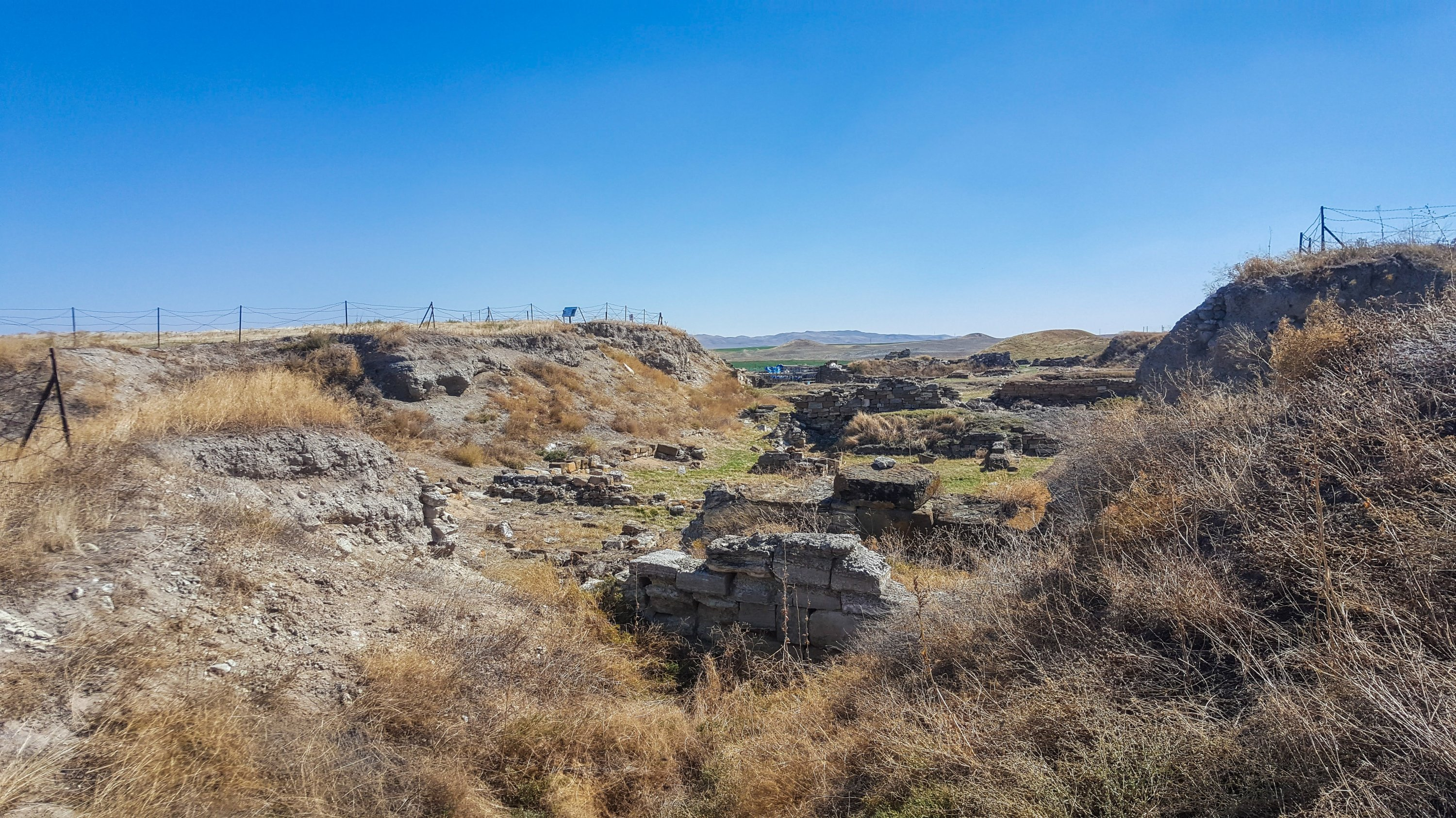 A general view of the ancient city of Gordion. (Photo by Argun Konuk)