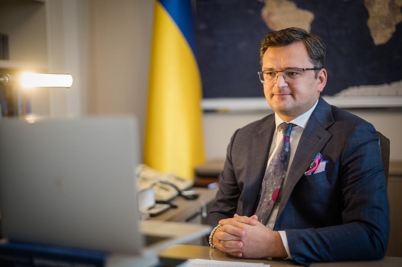 Ukrainian Foreign Minister Dmytro Kuleba speaks with Anadolu Agency (AA), Nov. 27, 2020. (AA Photo)