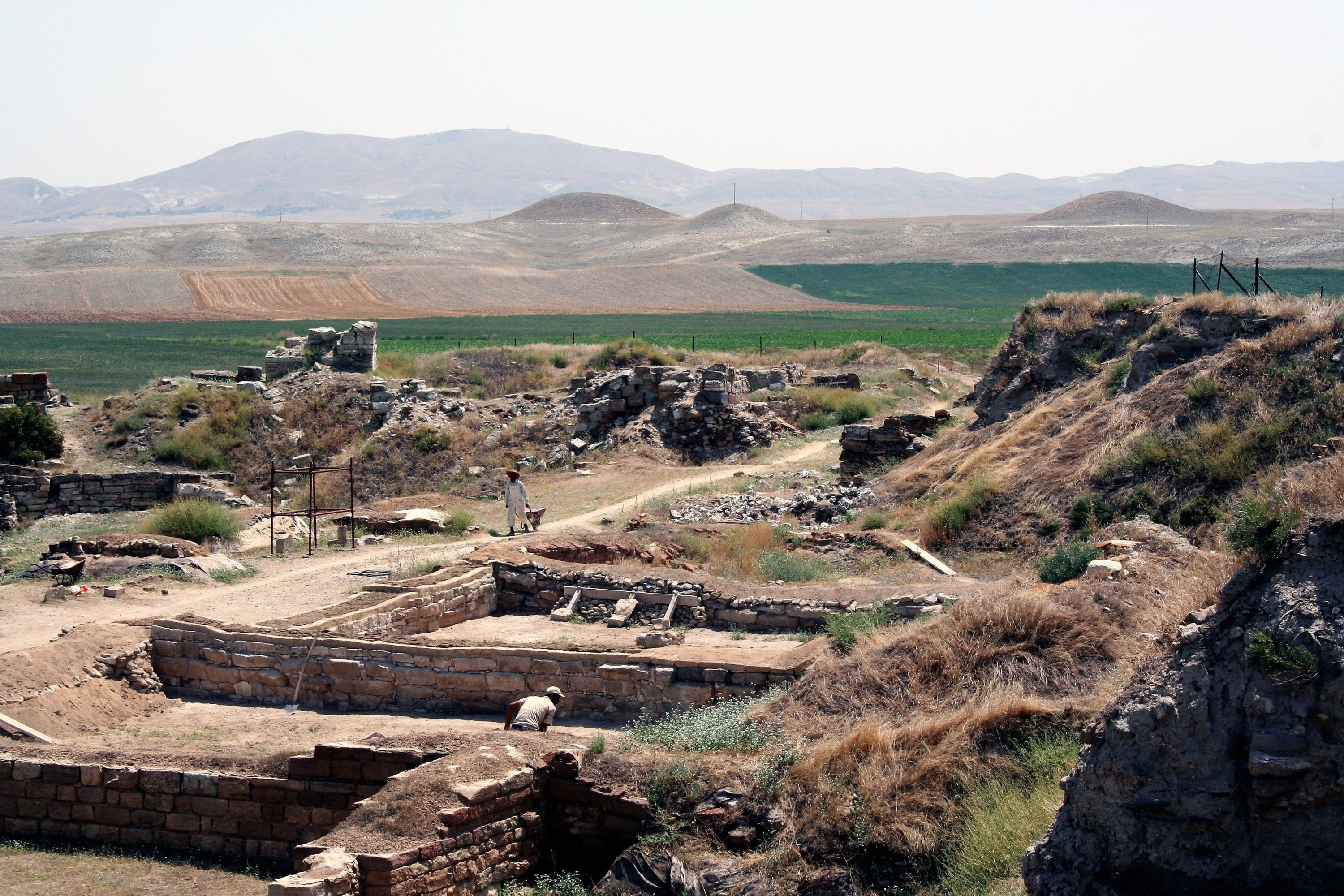 King Midas's tomb at the archaeological site of Gordion. (Shutterstock Photo)