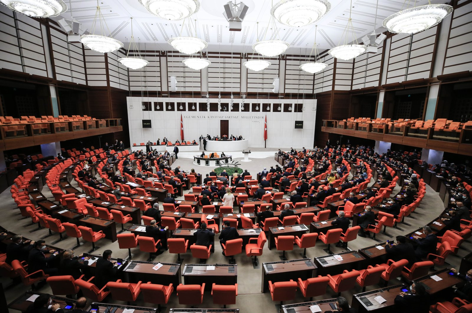 A general view of the Turkish Parliament. (AA Photo)