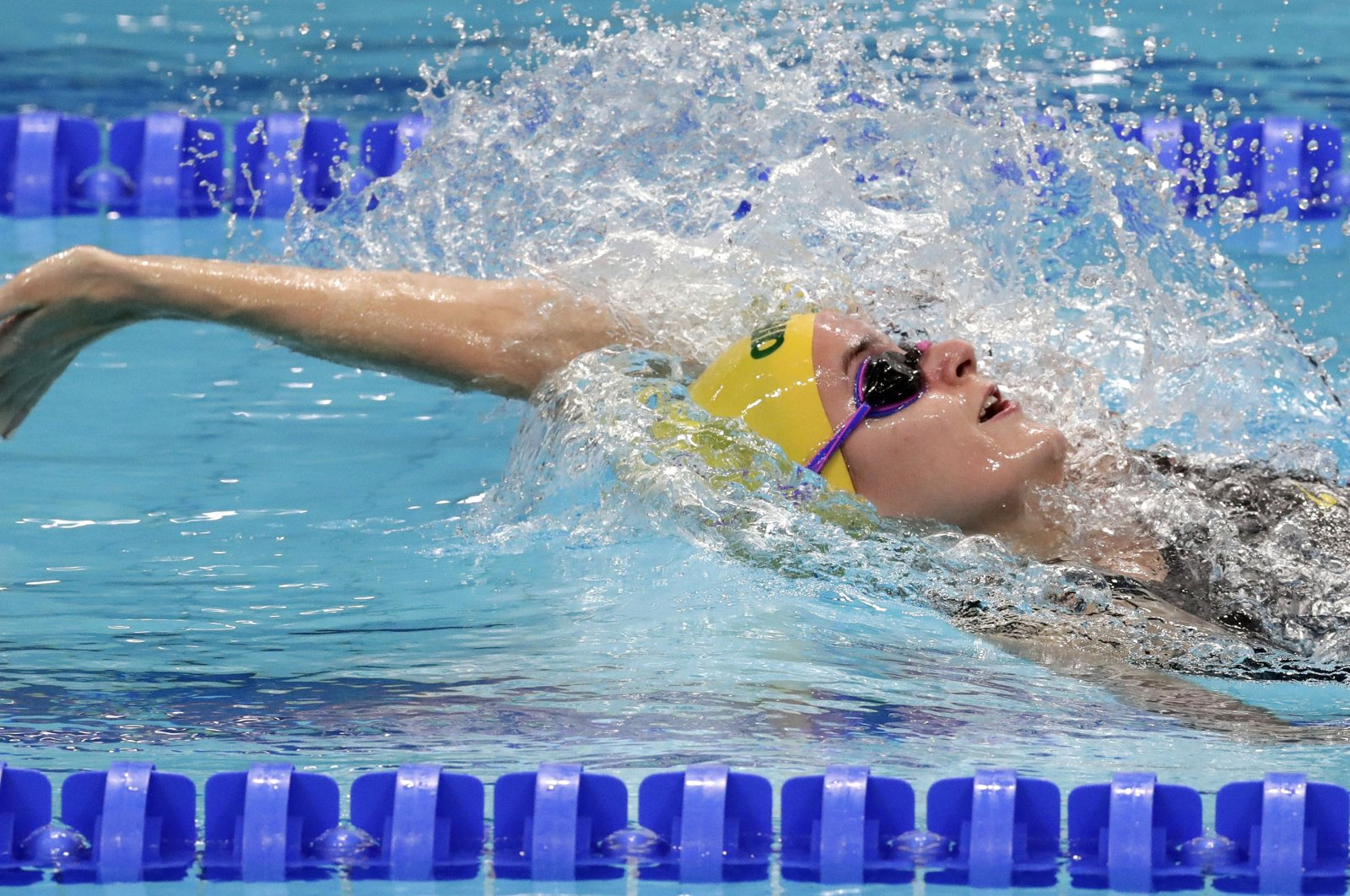 Australia's Kaylee McKeown competes in a women's 200-meter backstroke heat during the swimming competitions of the World Aquatics Championships in Budapest, Hungary, July 28, 2017. (AP Photo)