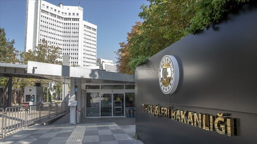 The Turkish Foreign Ministry building in Ankara, Turkey. (AA Photo)