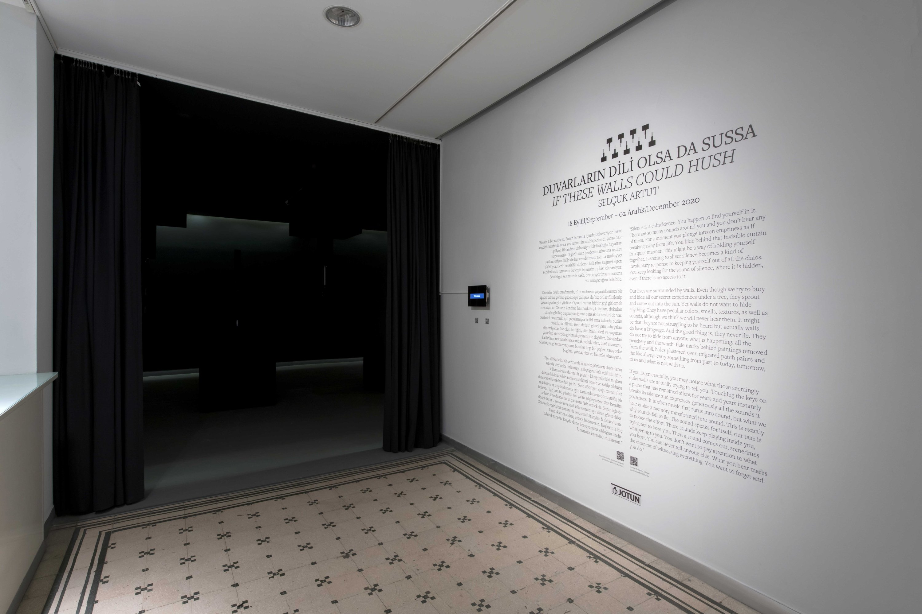 The conceptual text that Selçuk Artut prepared to accompany his