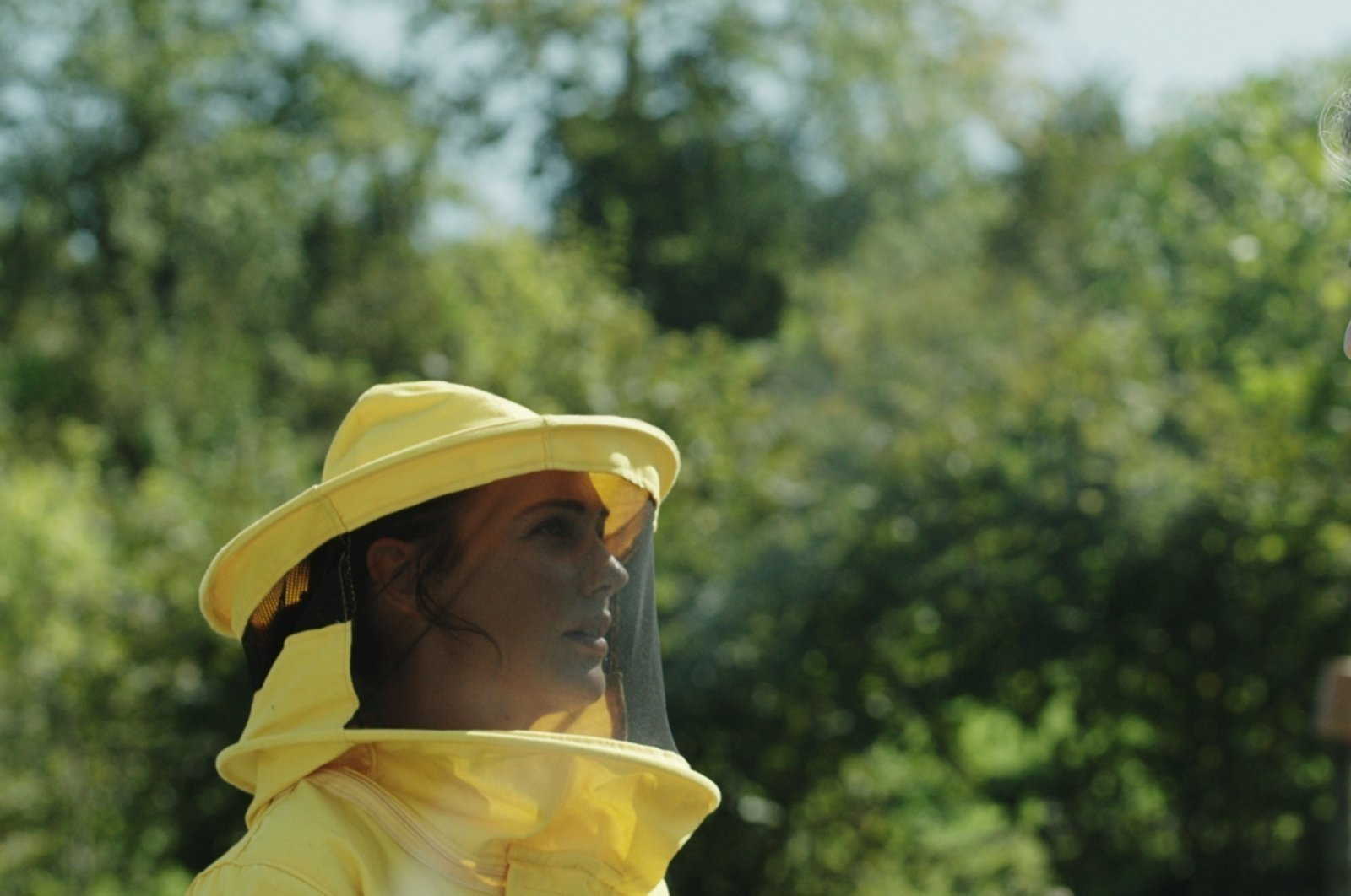 """Meryem Uzerli as Ayşe in a still from """"Kovan"""" (""""The Hive"""")."""
