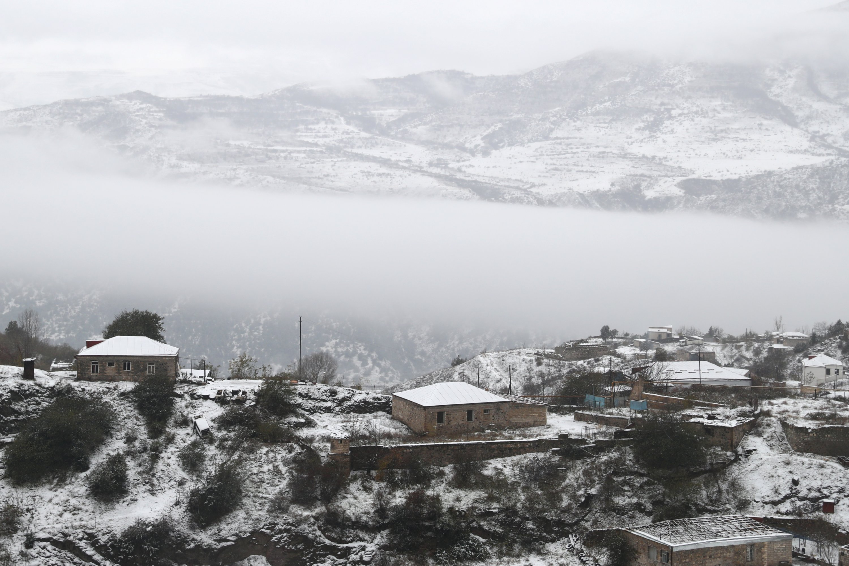 A view of a residential neighborhood in the town of Lachin, Nargorno-Karabakh. (Alexander Ryumin / TASS via Reuters)