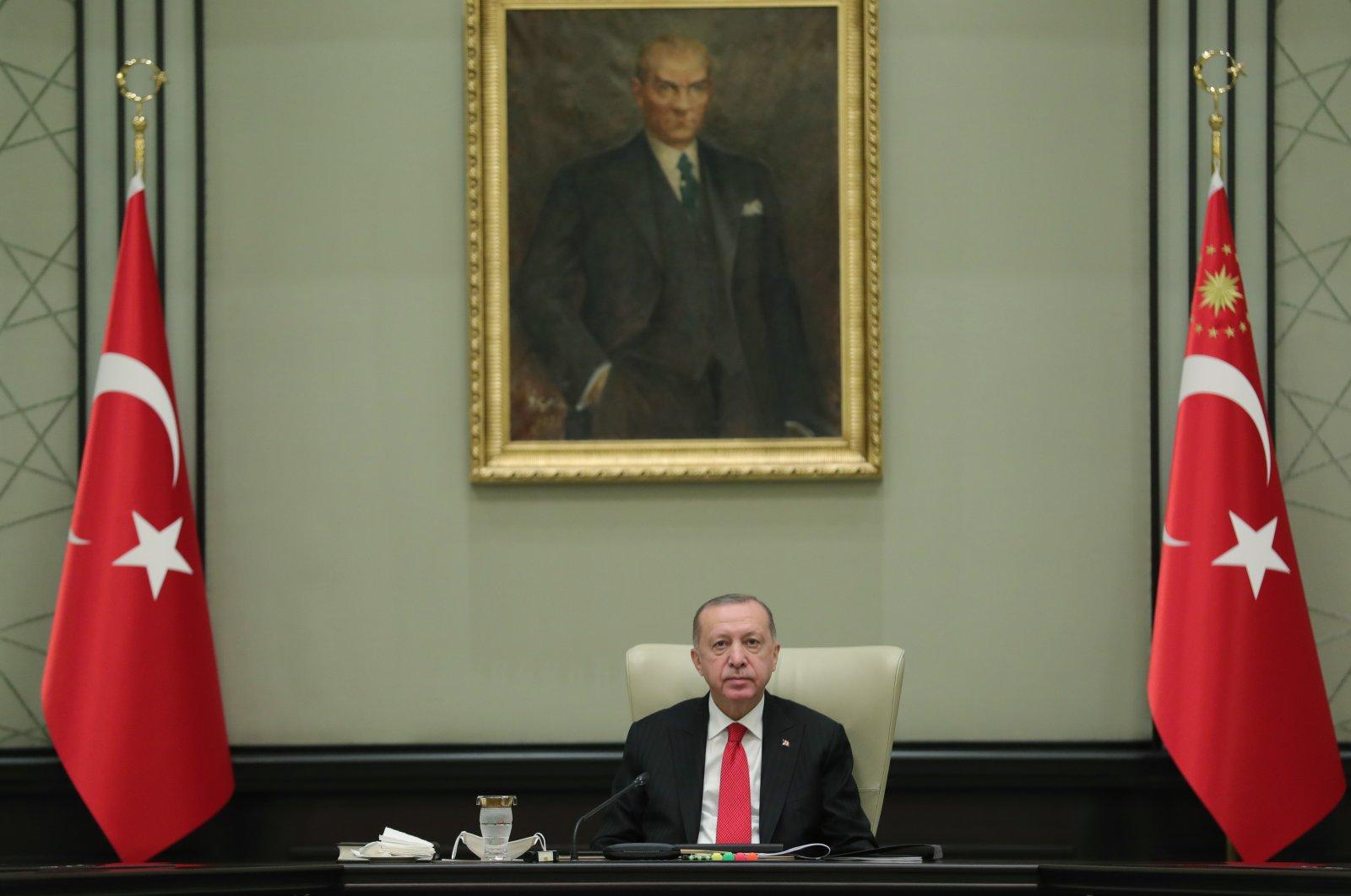 President Recep Tayyip Erdoğan ahead of a cabinet meeting in Ankara, Dec. 30, 2020. (AA)