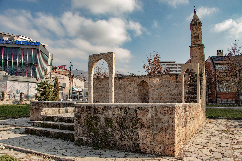 The minbar and mihrab of Namazgah are seen in Prizen, Kosovo, Nov. 30, 2020. (AA PHOTO)