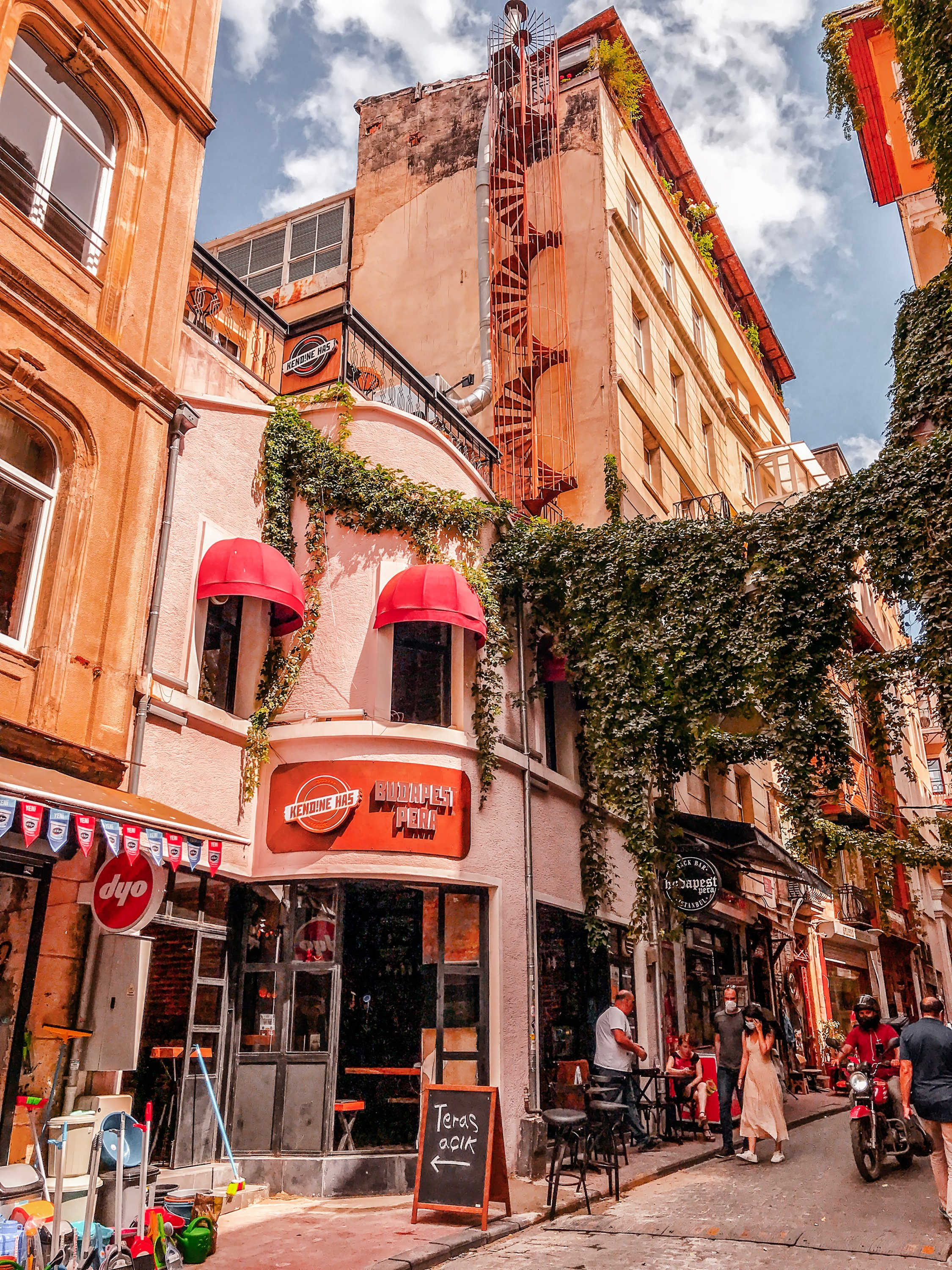 View from Istanbul streets showing the architecture on the European side of Turkey's largest and most populated city in Asmalımescit district, June 6, 2020. (Shutterstock Photo)