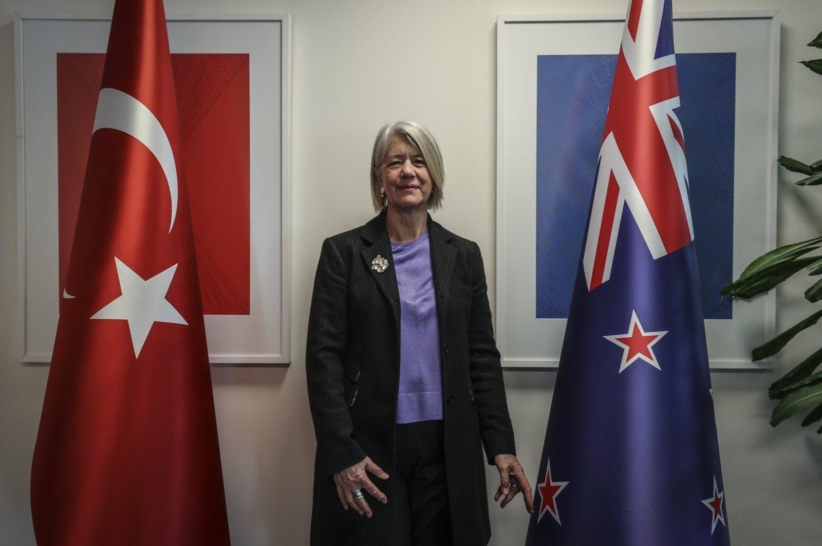 New Zealand's Ambassador to Turkey Wendy Hinton gives an interview to Anadolu Agency (AA),  Ankara, Turkey, Dec. 1, 2020. (AA Photo)