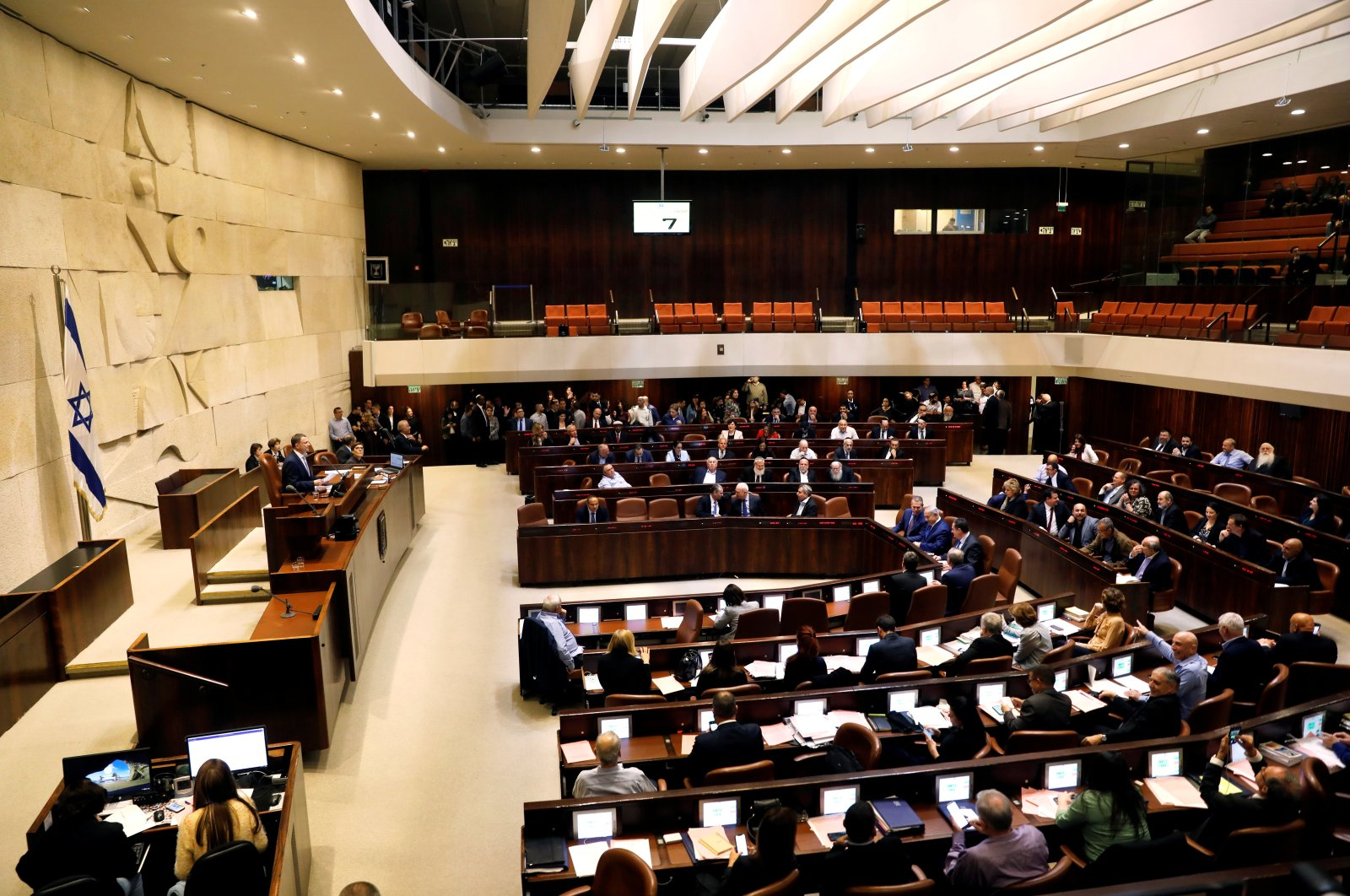 A general view shows the plenum at the Knesset, Israel's parliament, in Jerusalem on Dec. 26, 2018. (Reuters File Photo)