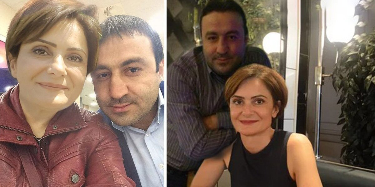 Canan Kaftancıoğlu with Umut Karagöz, who is accused of raping a CHP member in Istanbul's Maltepe district (Sabah Photo)