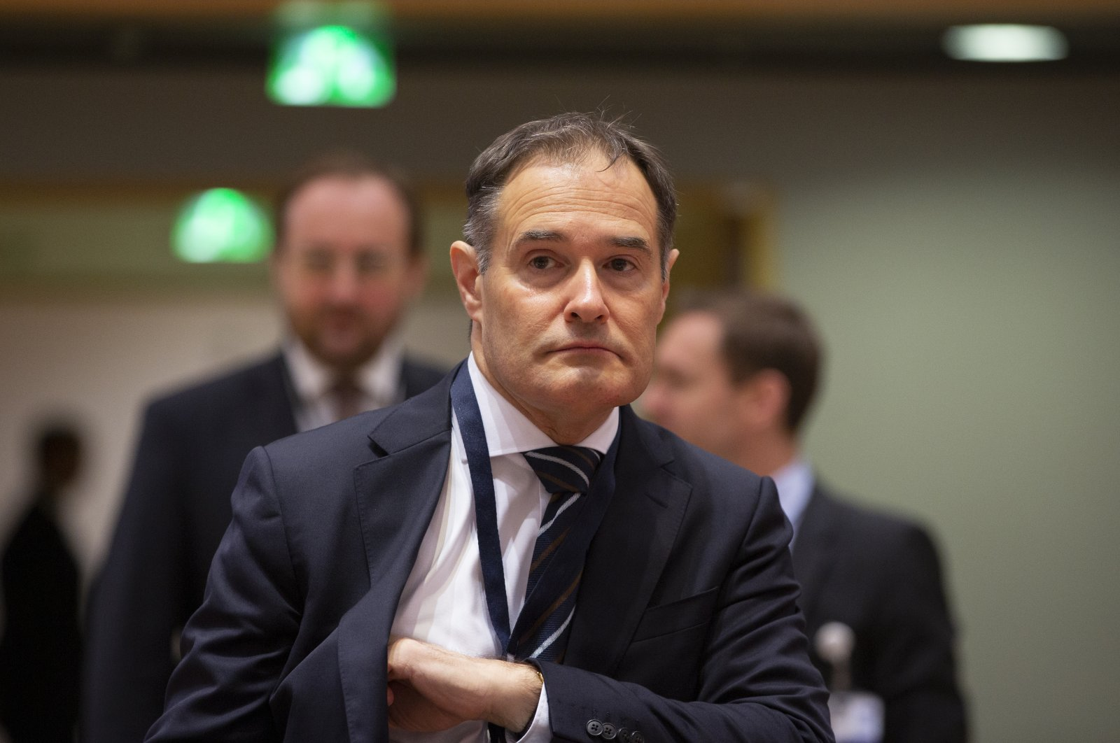 Fabrice Leggeri, Executive Director of Frontex, attends a meeting of EU interior ministers at the EU Council building in Brussels, Dec. 2, 2019. (AP Photo)
