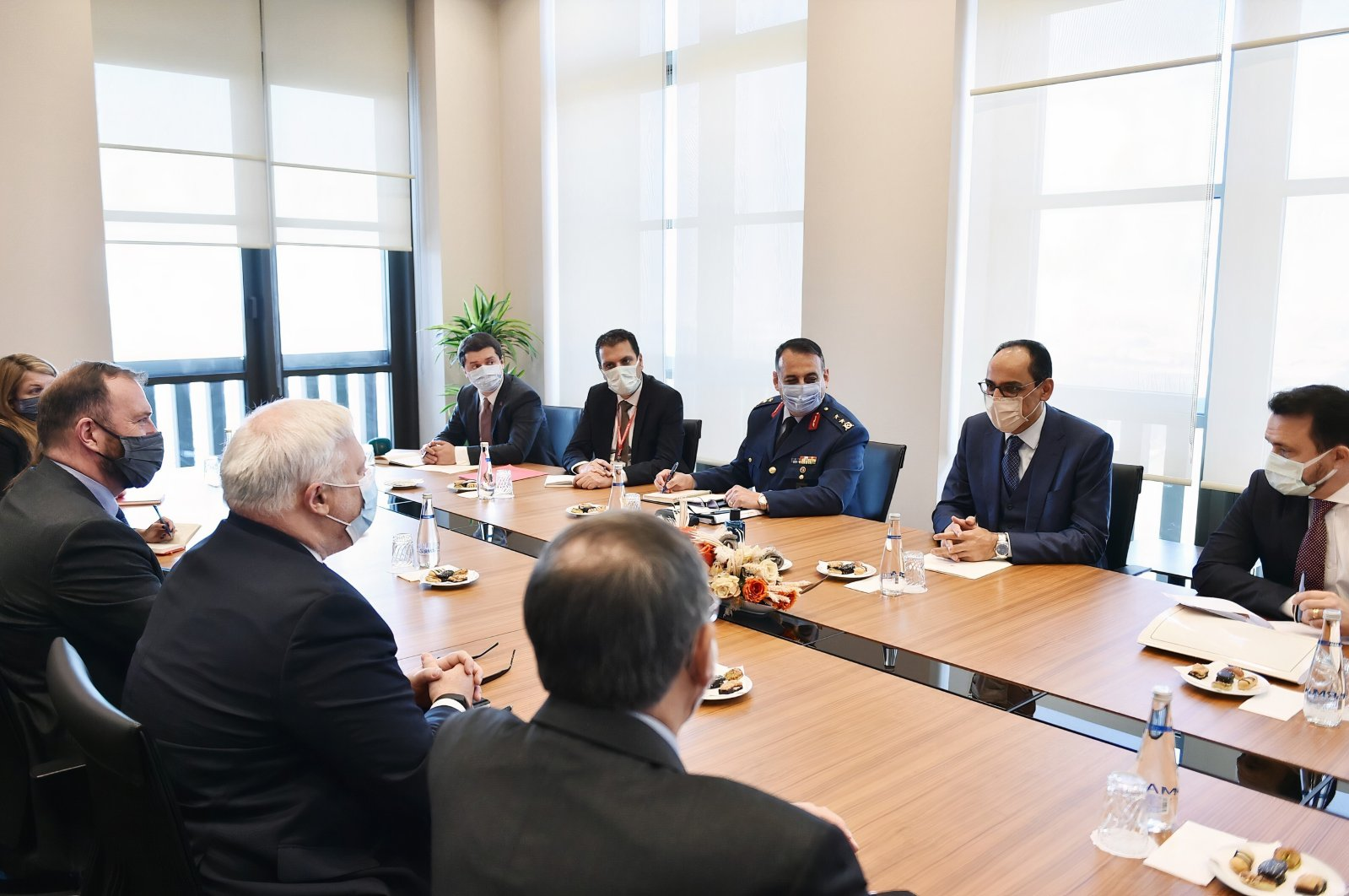 Presidential Spokesperson Ibrahim Kalın holds a meeting with U.S. special envoy to Syria Joel Rayburn and his delegation at the Beştepe Presidential Complex in the capital Ankara, Turkey, Dec. 2, 2020. (Courtesy of the Presidency)