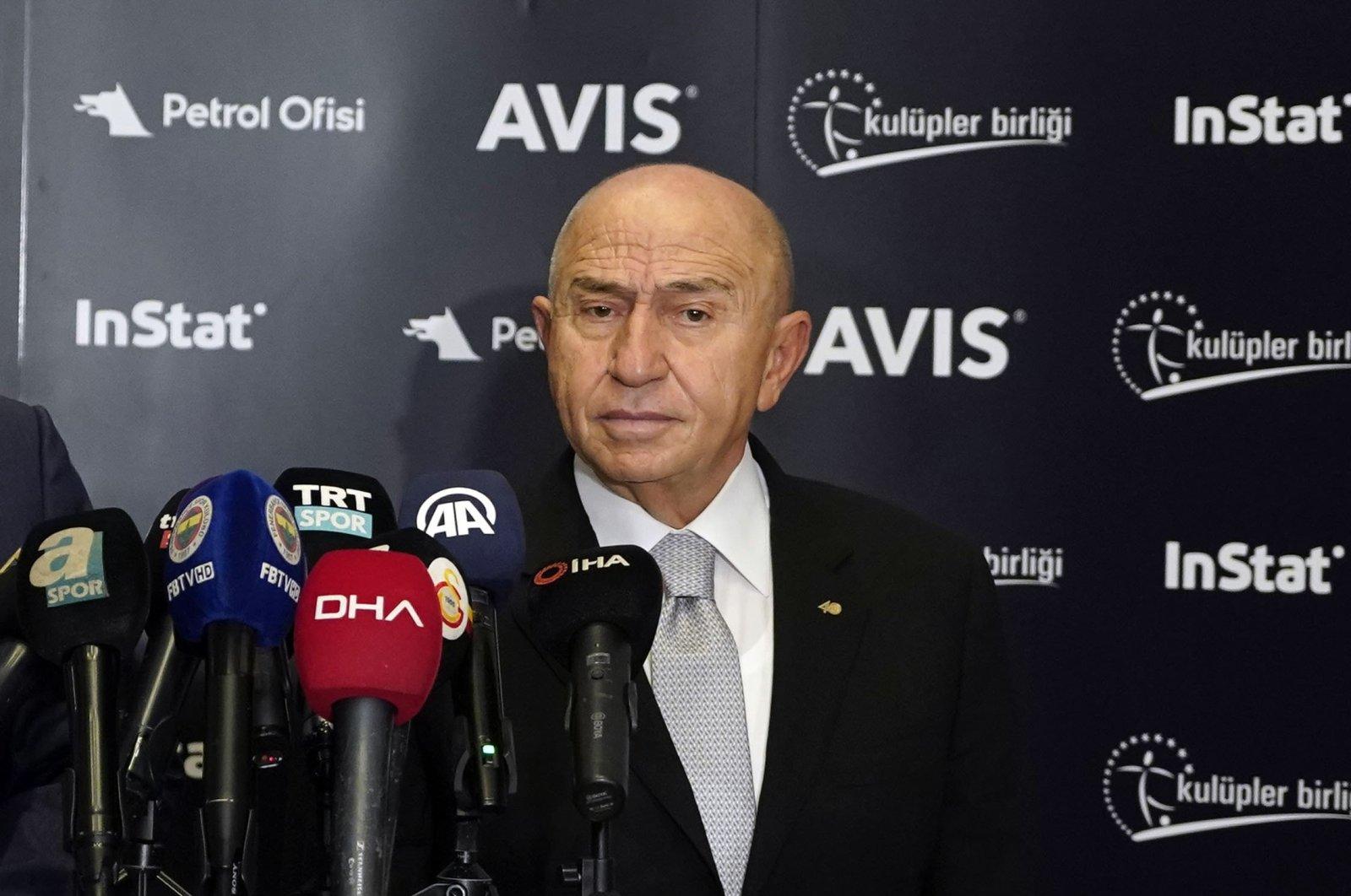 Nihat Özdemir speaks at a press conference in Istanbul, Turkey, Nov. 11, 2020. (İHA PHOTO)