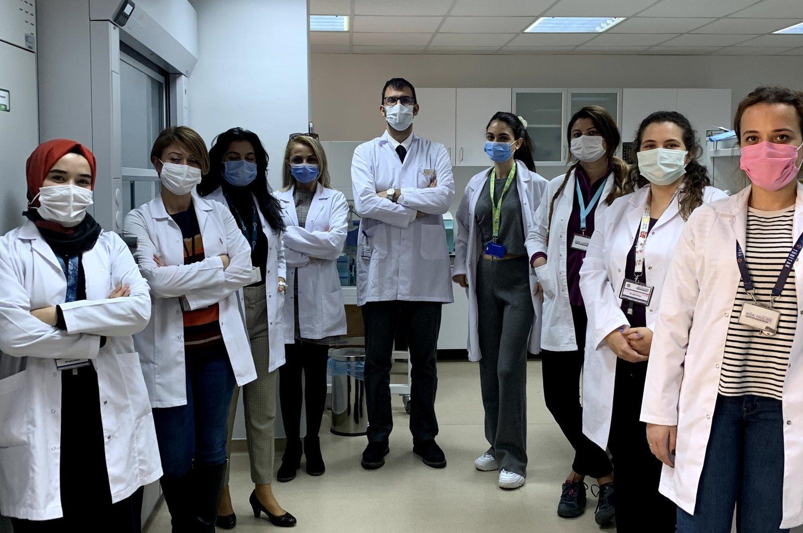 Researchers involved in the project pose at the Ankara University laboratory in the capital Ankara, Turkey, Dec. 2, 2020. (AA Photo)