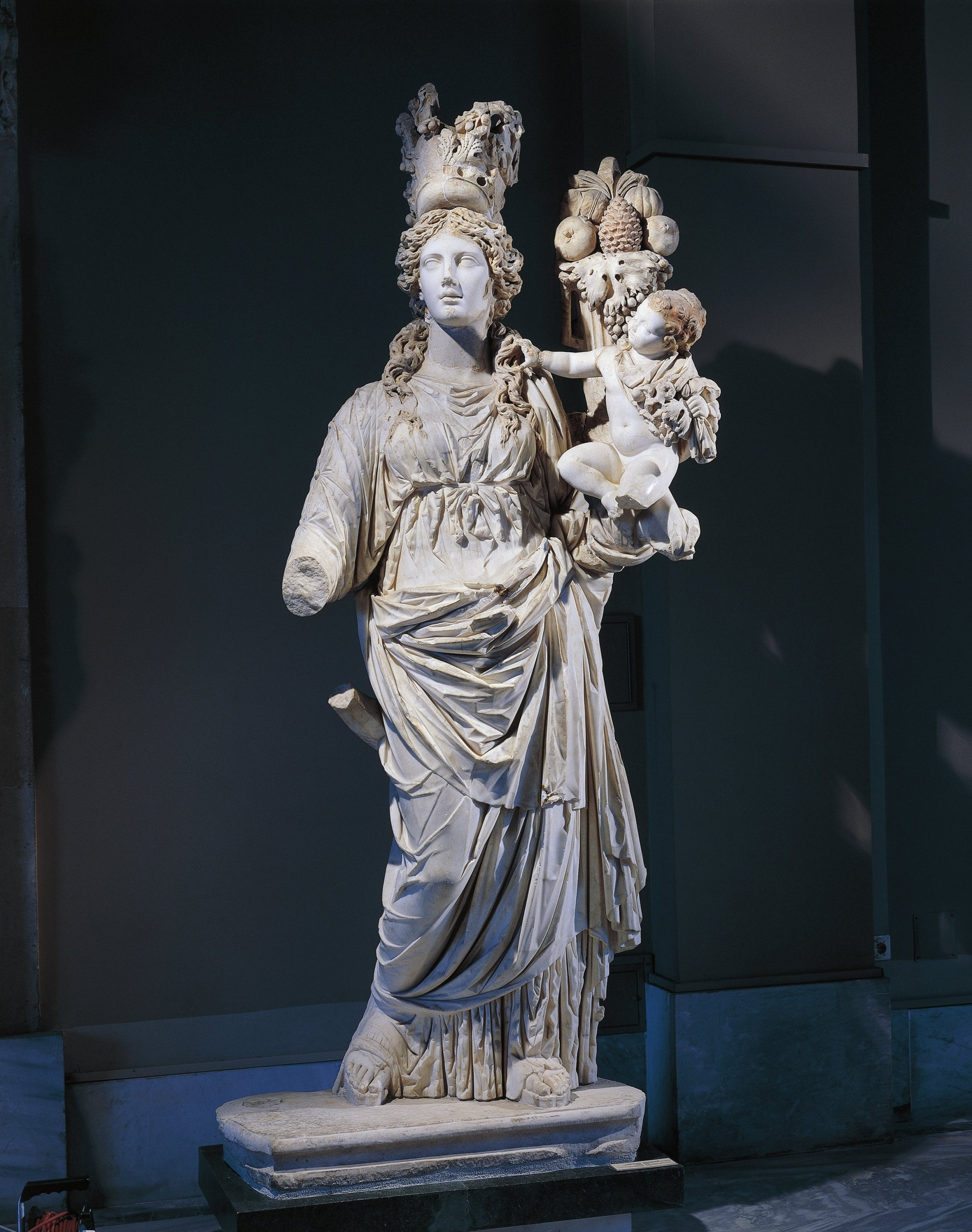 The marble statue of Tyche from Prusias ad Hypium in the Istanbul Archaeology Museum, Istanbul, Turkey.  (Getty Images)