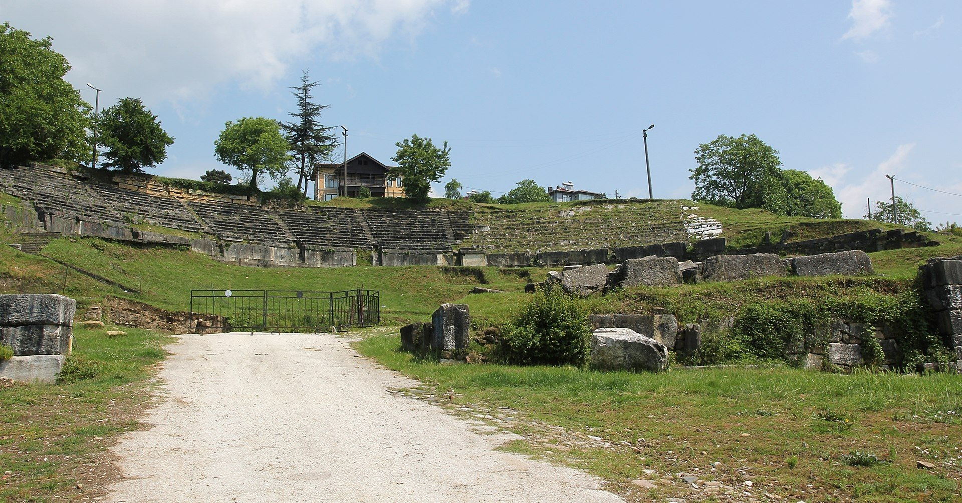 A view from the theater of the ancient city of Prusias ad Hypium in Düzce, northwestern Turkey.