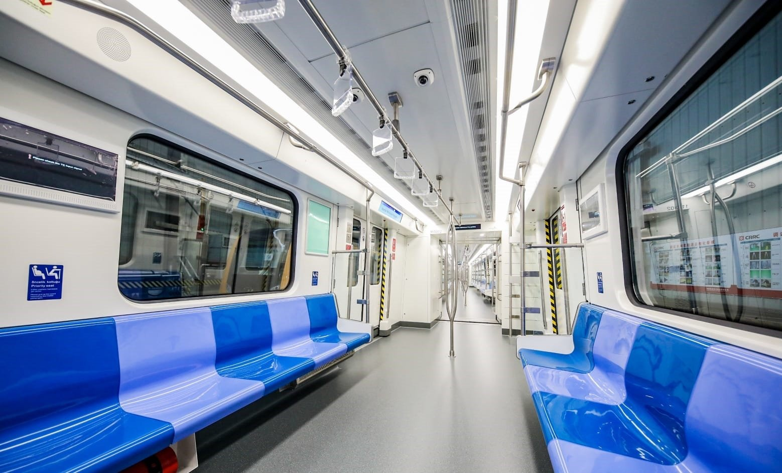 A file photo shows a metro car on the Gayrettepe-Istanbul Airport line, Sept. 7, 2020. (Sabah Photo)