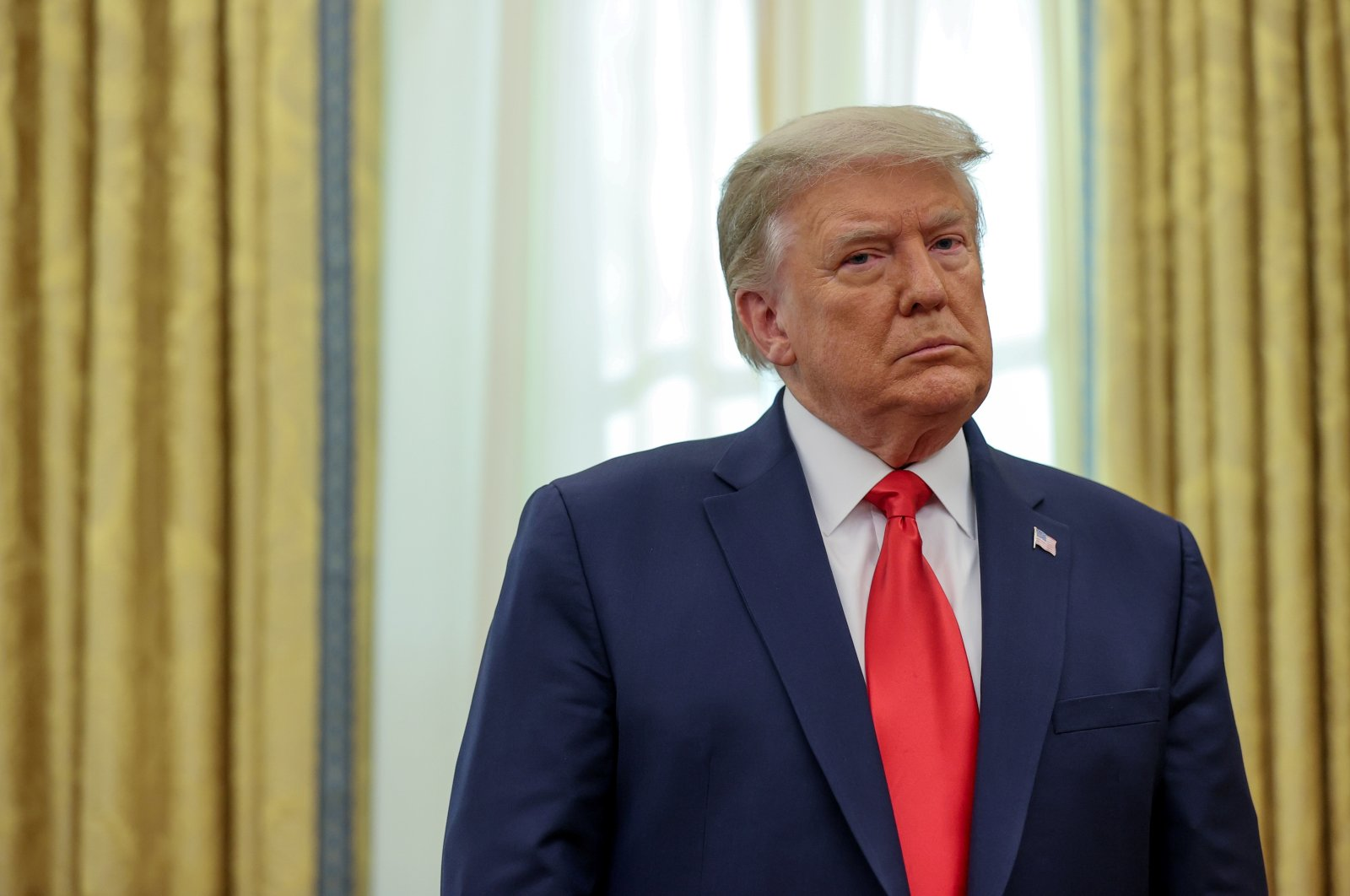 U.S. President Donald Trump participates in a medal ceremony in the Oval Office at the White House in Washington, D.C., Dec. 3, 2020. (Reuters Photo)