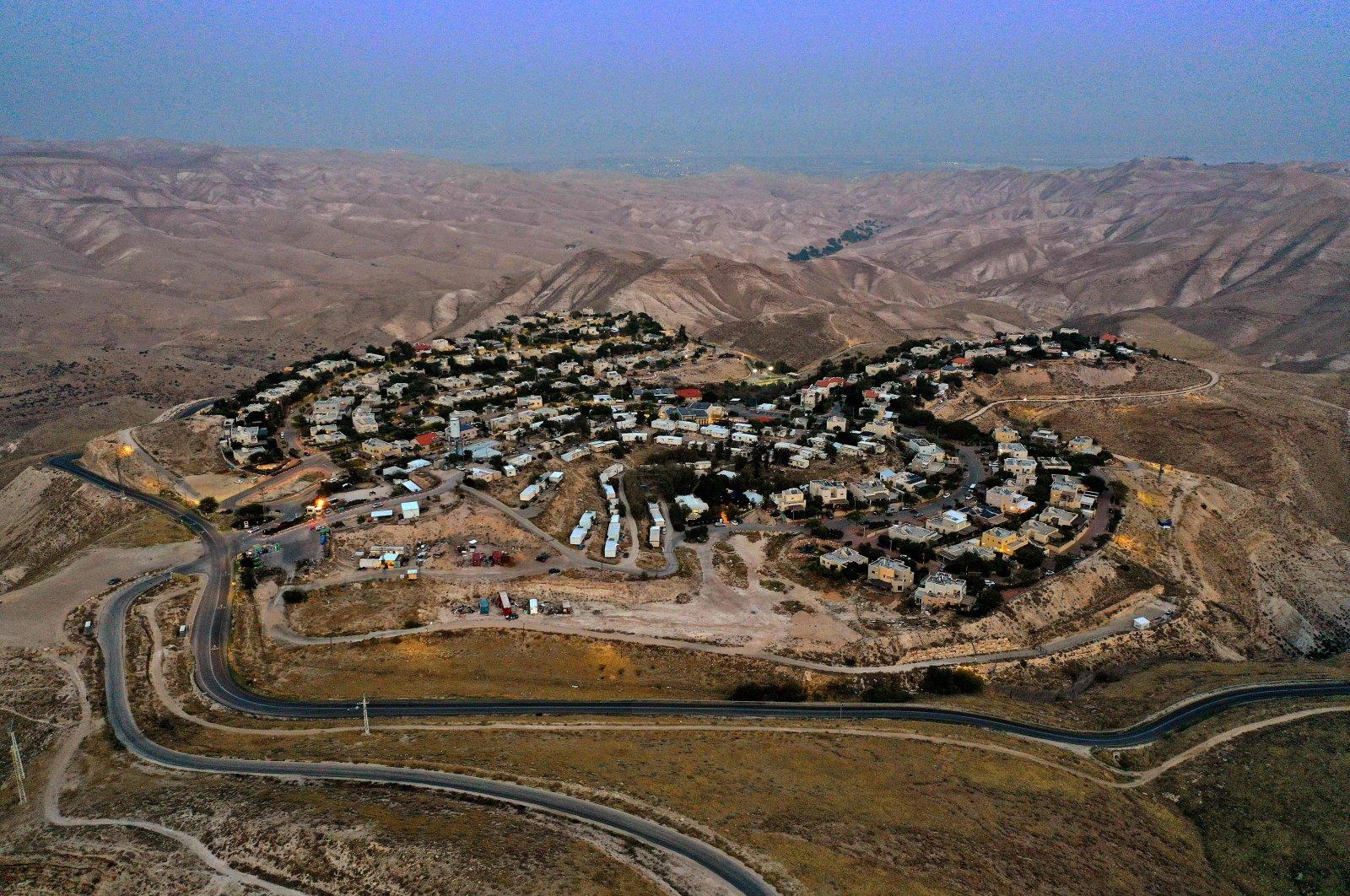 The illegal Israeli settlement of Alon in the Judaean desert, east of Jerusalem in the Israeli-occupied West Bank, Dec. 2, 2020. (AFP Photo)