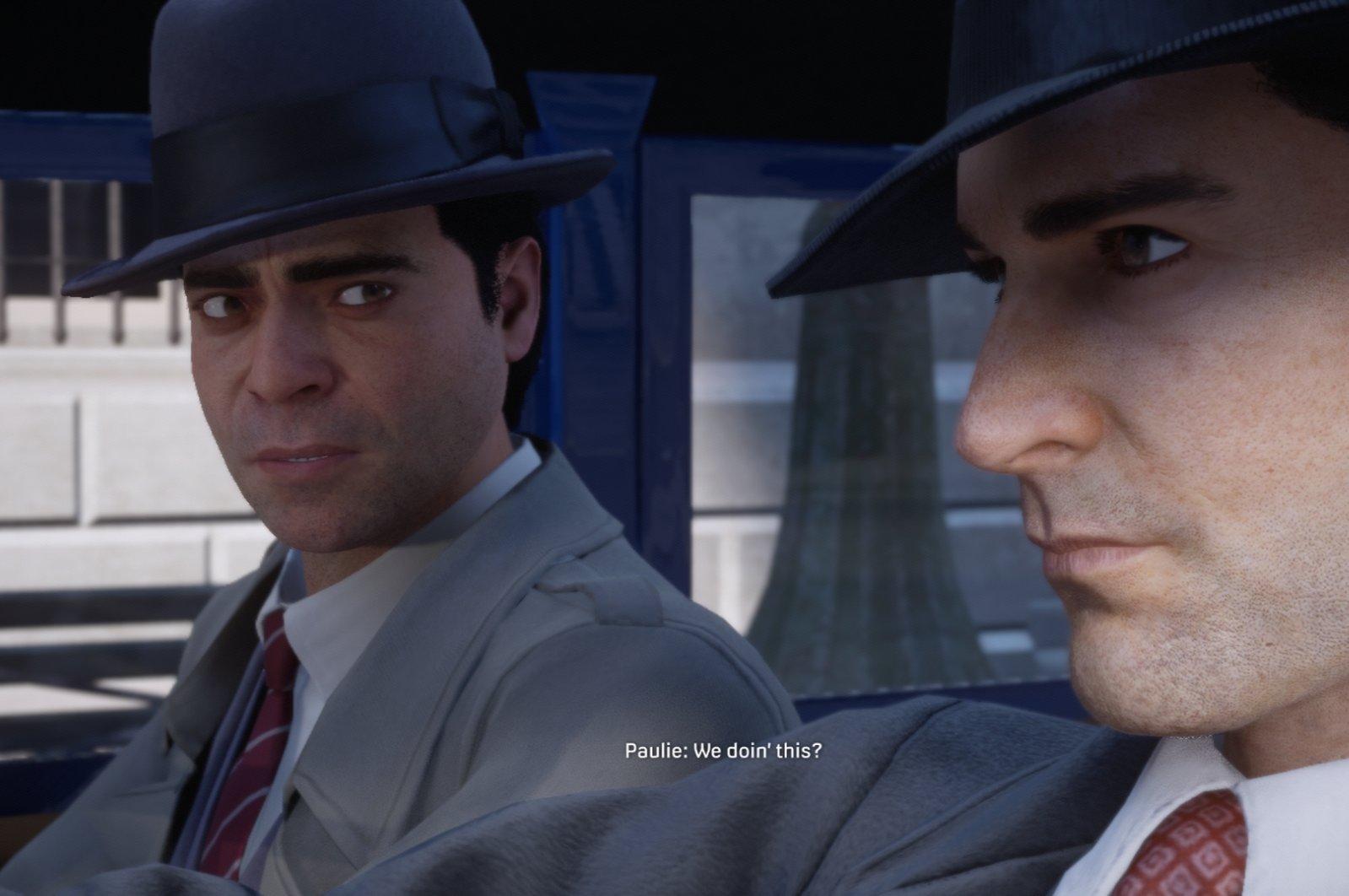 Screengrab from Mafia: Definitive Edition shows a cutscene during gameplay. (Hangar 13/2K Games)
