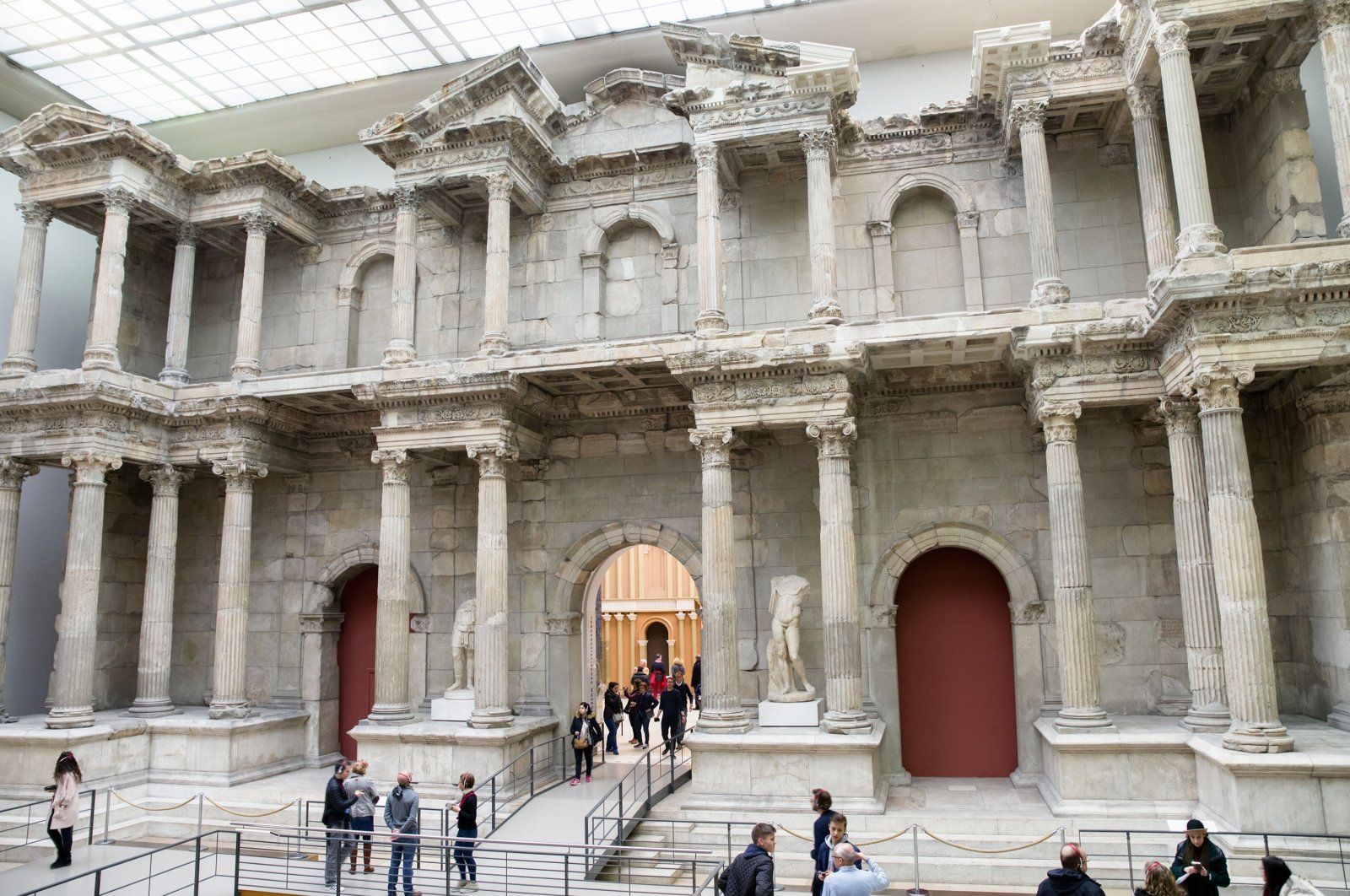 A view of the market gate of the ancient city of Miletus, located in western Turkey, in the Pergamon Museum, Berlin, Germany, April 7, 2017. (SHUTTERSTOCK PHOTO)