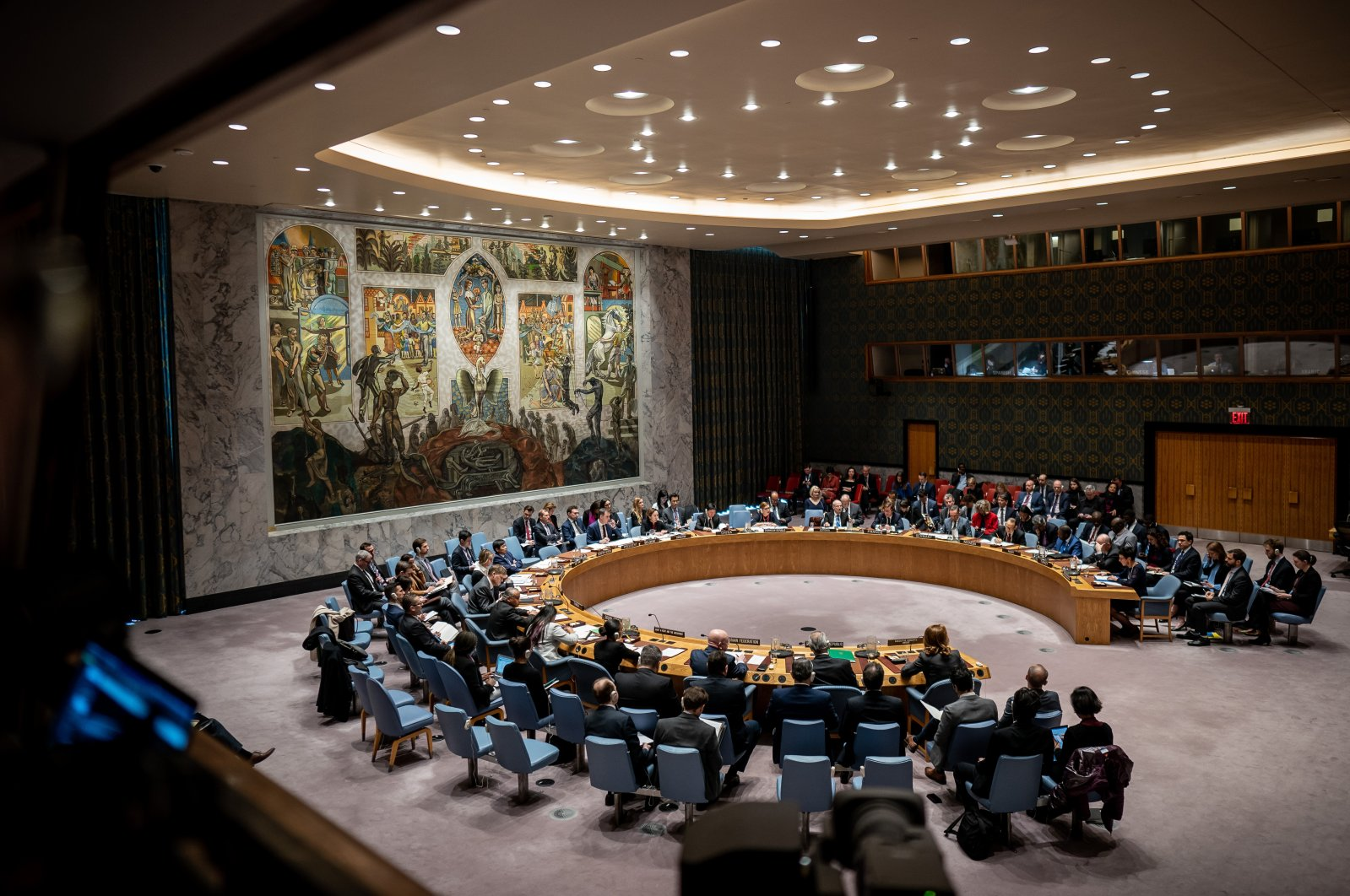 U.N. Security Council members attend a meeting in the U.N.'s headquarters in New York City, New York, U.S., Feb. 27, 2020. (Photo by Getty Images)