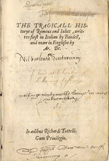 The title page of Arthur Brooke's poem
