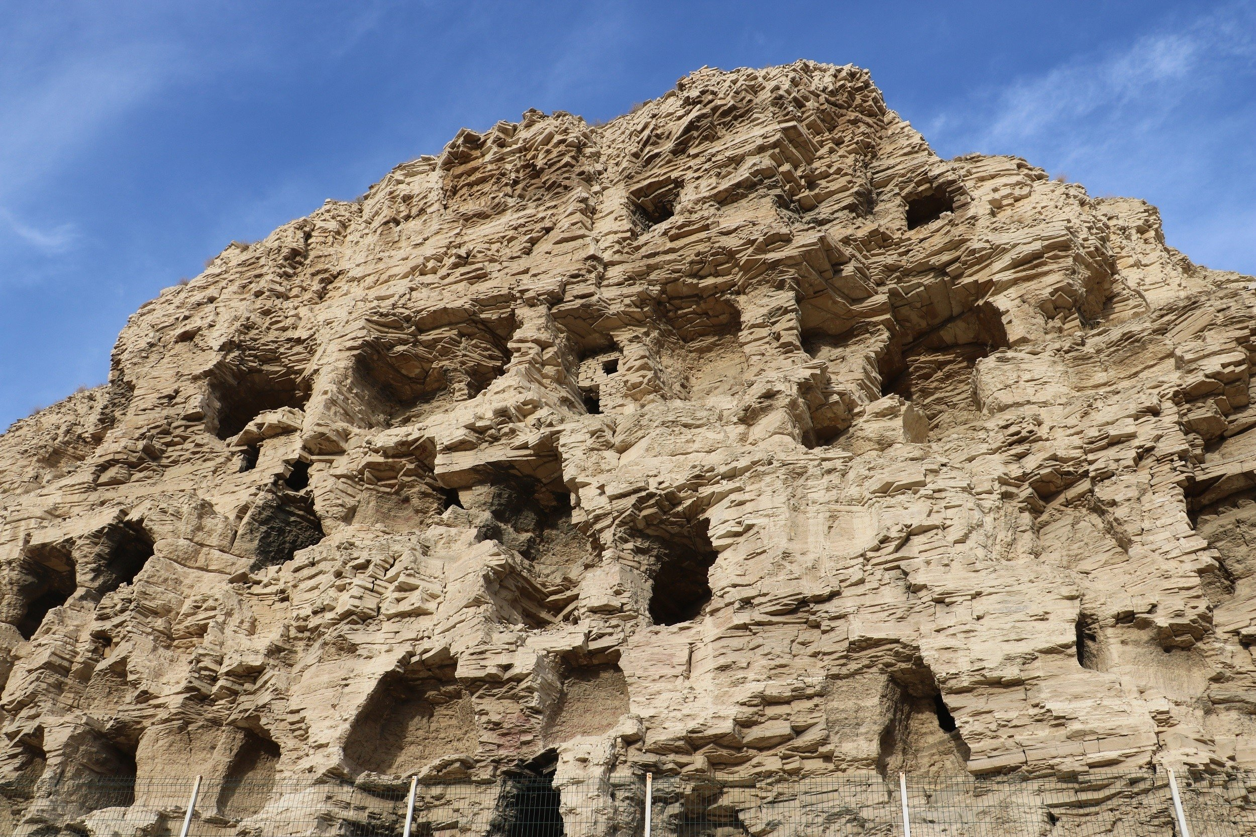 Local officials hope researchers will take an interest in the caves so that more can be discovered about their age and earliest residents, Gürün district of Sivas province, central Turkey, Dec. 7, 2020. (IHA Photo)