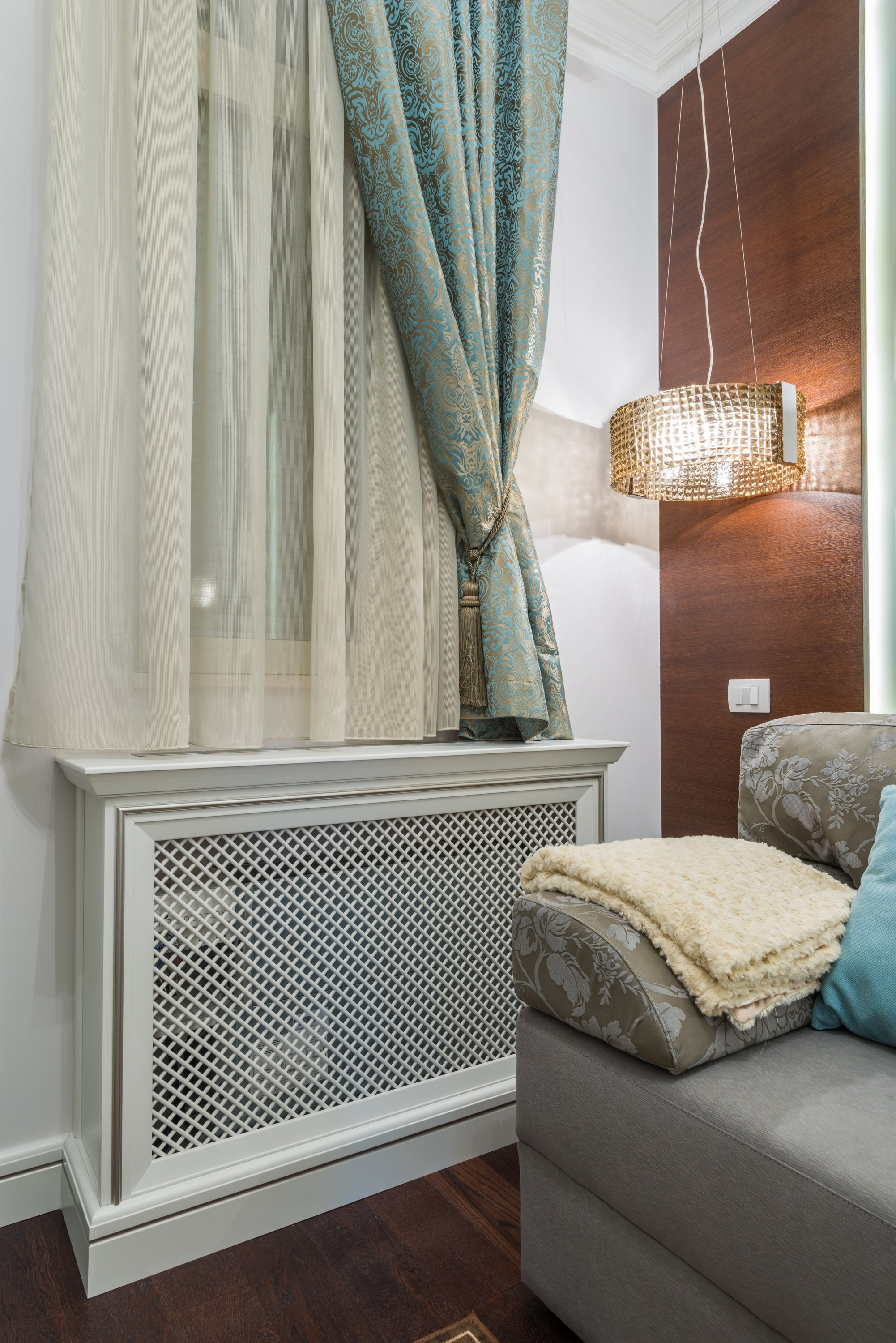 Wood is the most common choice for radiator covers. (Shutterstock Photo)