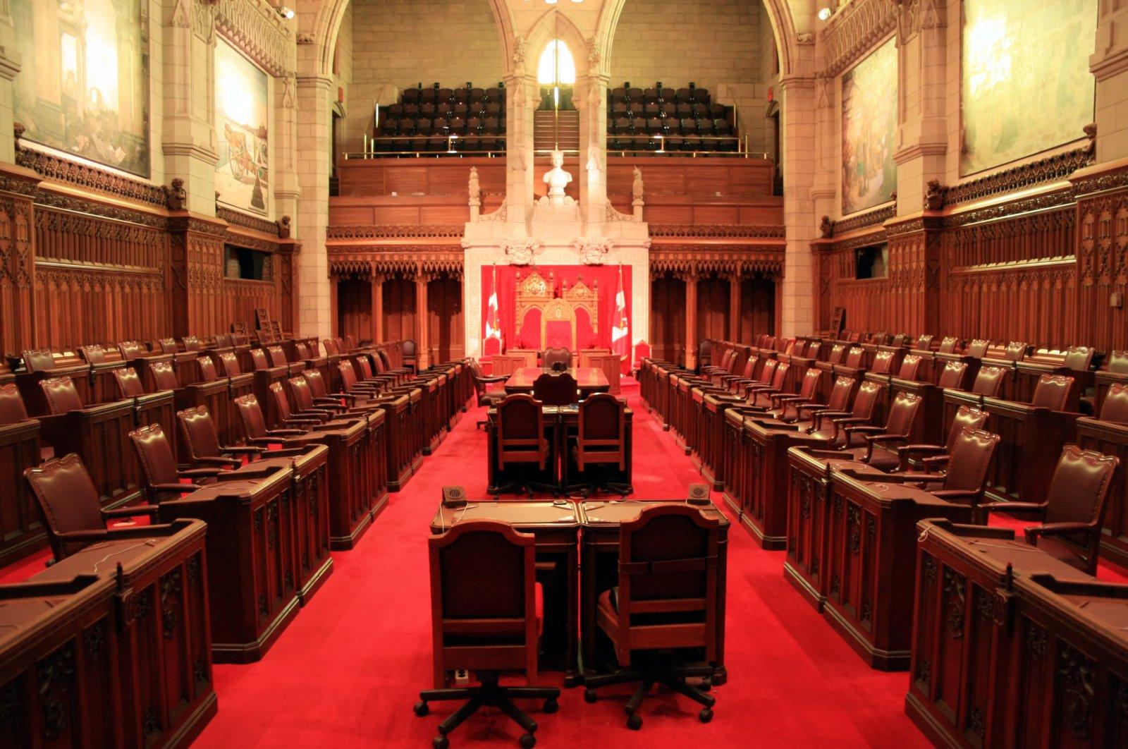 The Canadian Senate, upper house of Canada's Parliament (Shutterstock Photo)