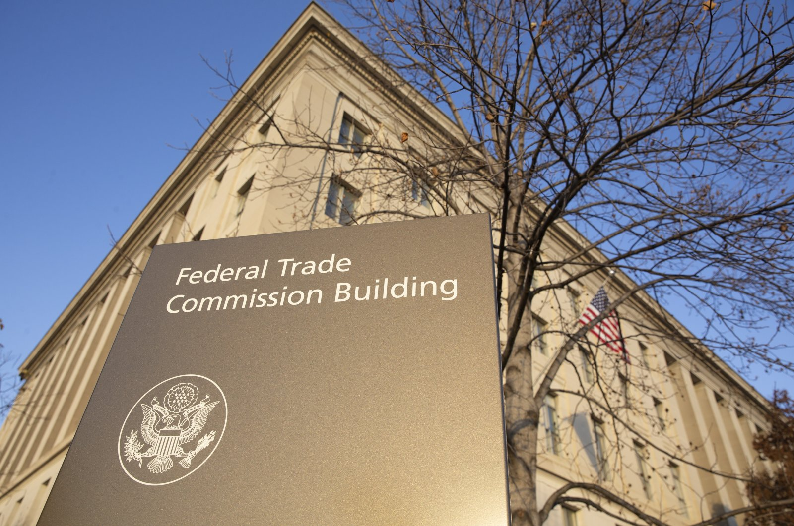 The Federal Trade Commission (FTC) Building in Washington, DC, USA, 09 December 2020. The FTC and 46 states with Washington DC and Guam filed antitrust lawsuits against Facebook Inc., alleging illegal social network monopoly through anticompetitive conduct which could force the sale of Instagram and WhatsApp. (EPA Photo)