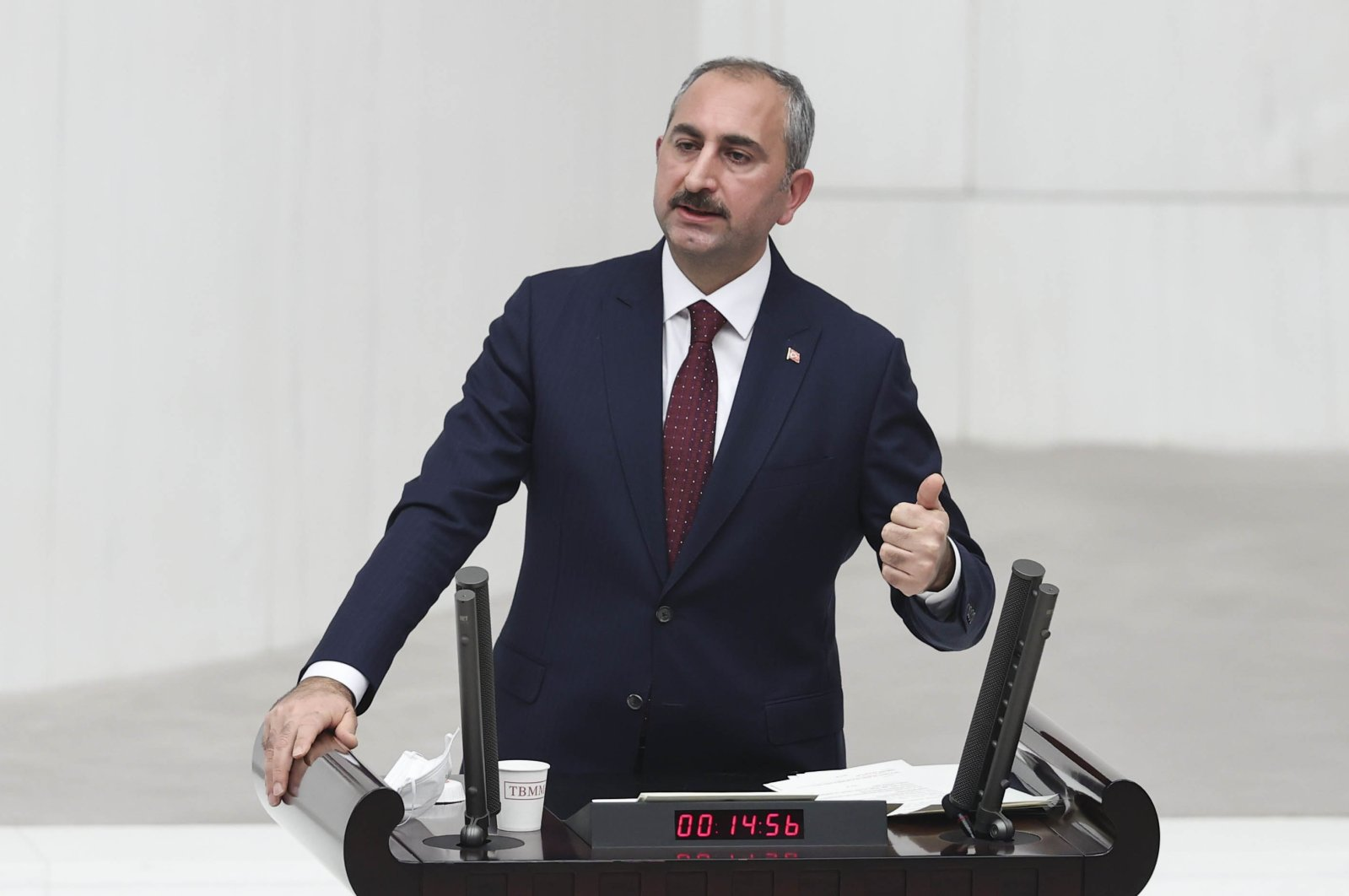 Justice Minister Abdulhamit Gül speaks during the 2021 budget debates in Parliament in Ankara, Turkey, Dec. 9, 2020. (AA Photo)