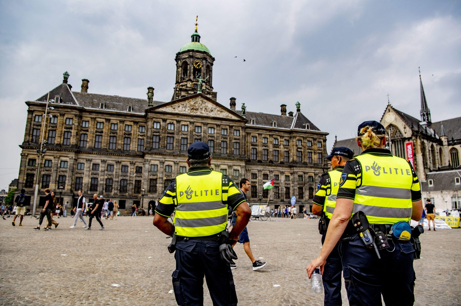 Police prepare for a demonstration on the Dam square in Amsterdam, Netherlands, on June 27, 2020. (Reuters File Photo)