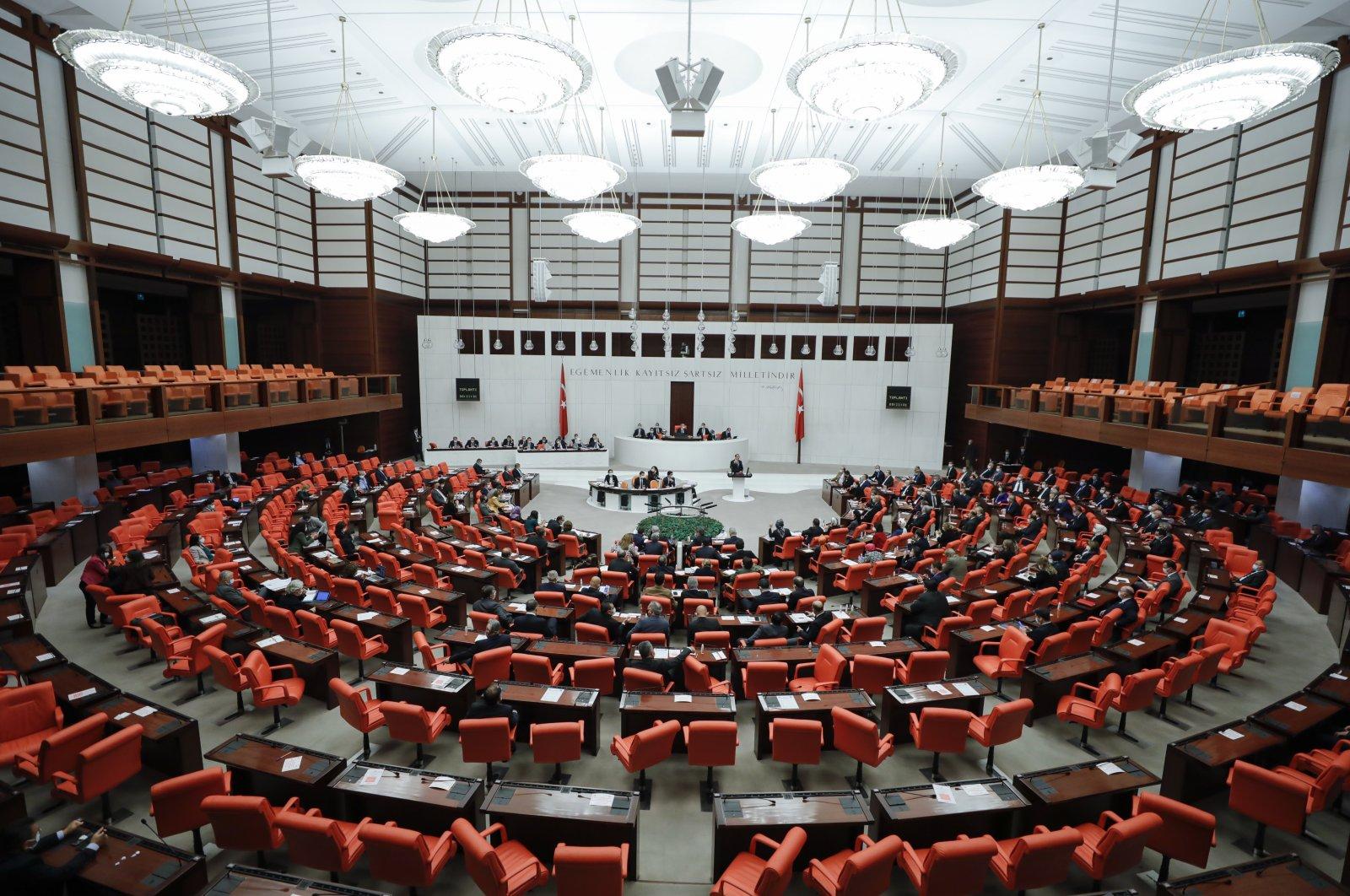 Lawmakers attend a session at Parliament, capital Ankara, Turkey, Dec. 10, 2020. (AA Photo)