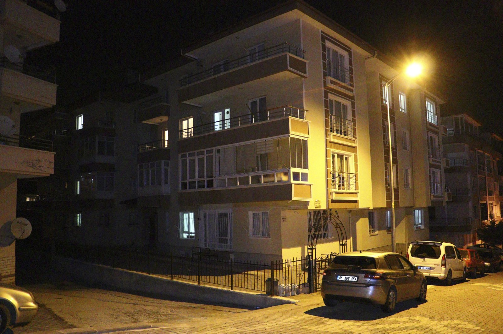 A view of the residence of Ibrahim Çolak, where the writer was recently found dead, in the capital Ankara, Turkey, Dec. 10, 2020. (DHA PHOTO)