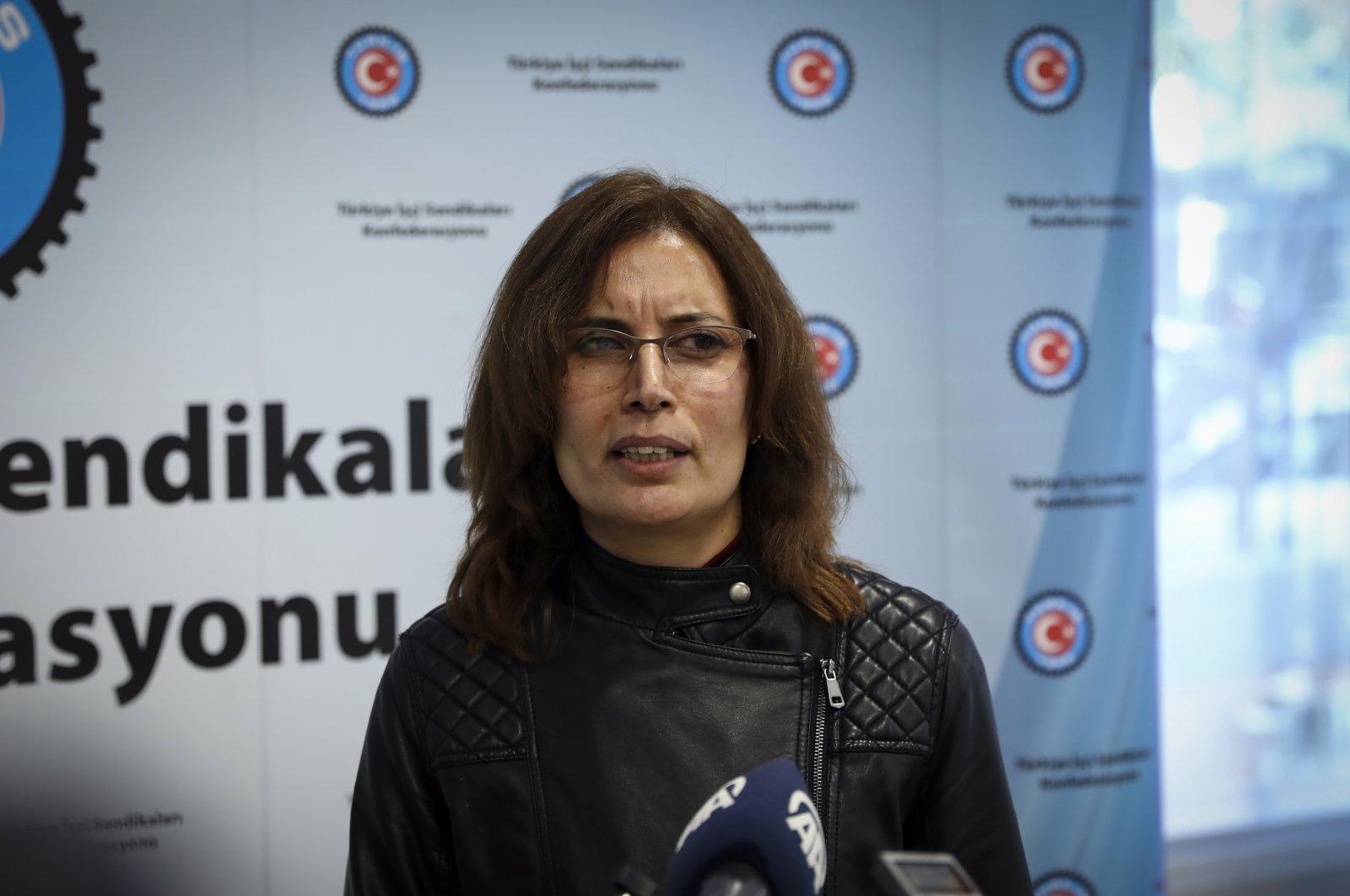 Özgül Yardımcı speaks to the press, capital Ankara, Turkey, Dec. 11, 2020. (AA Photo)